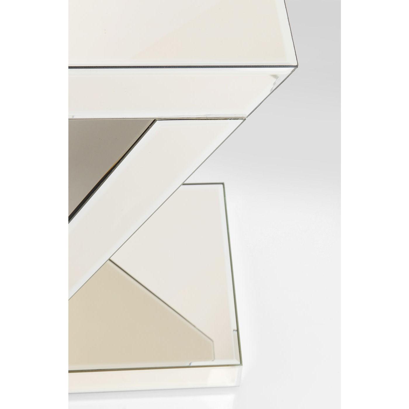 Table d'appoint en verre miroir doré