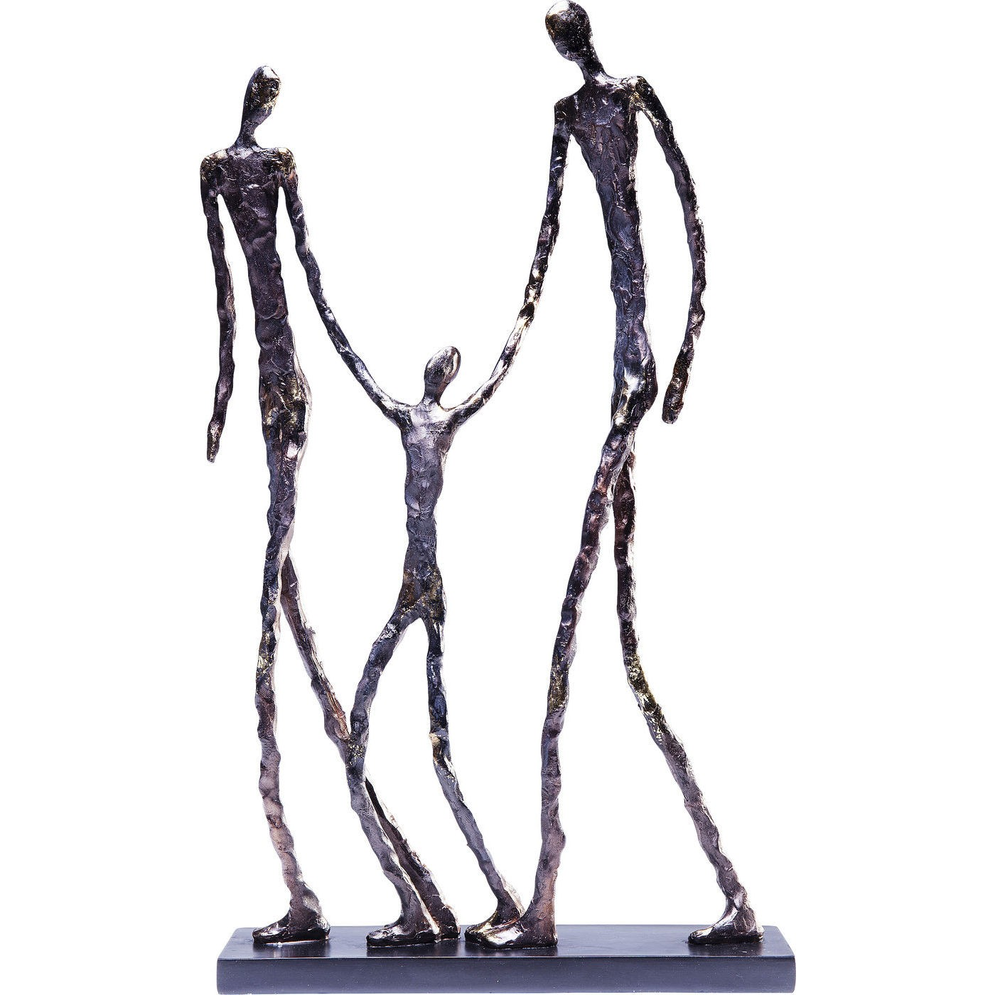 Statuette famille de personnages en polyrésine H47