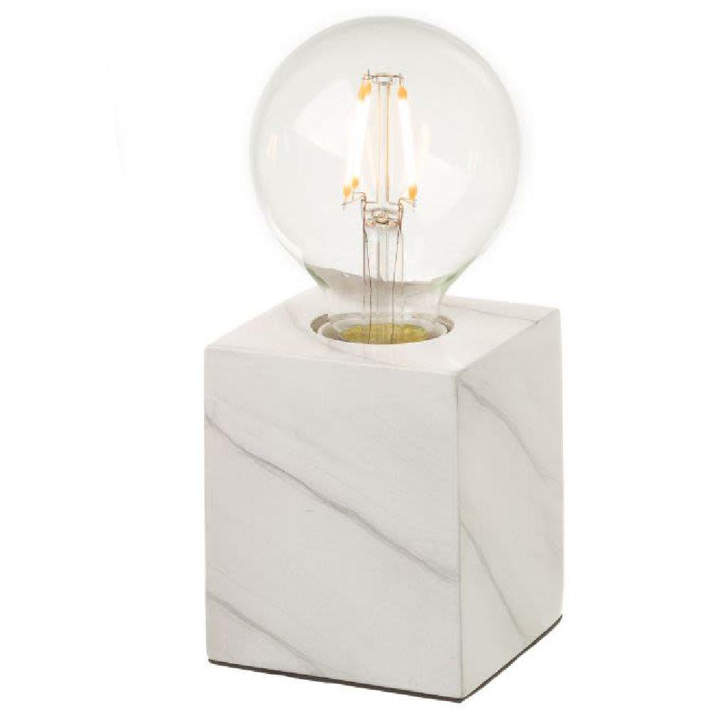 Lampe aspect marbre et ampoule néo-vintage