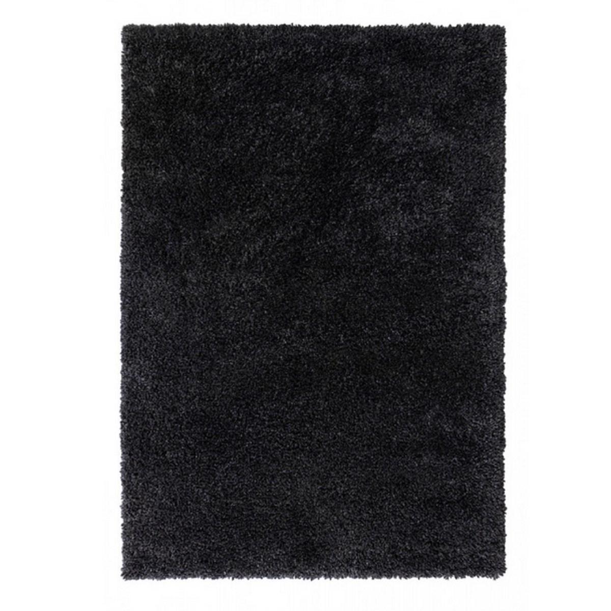 Tapis shaggy en Polypropylène Noir 80x160 cm
