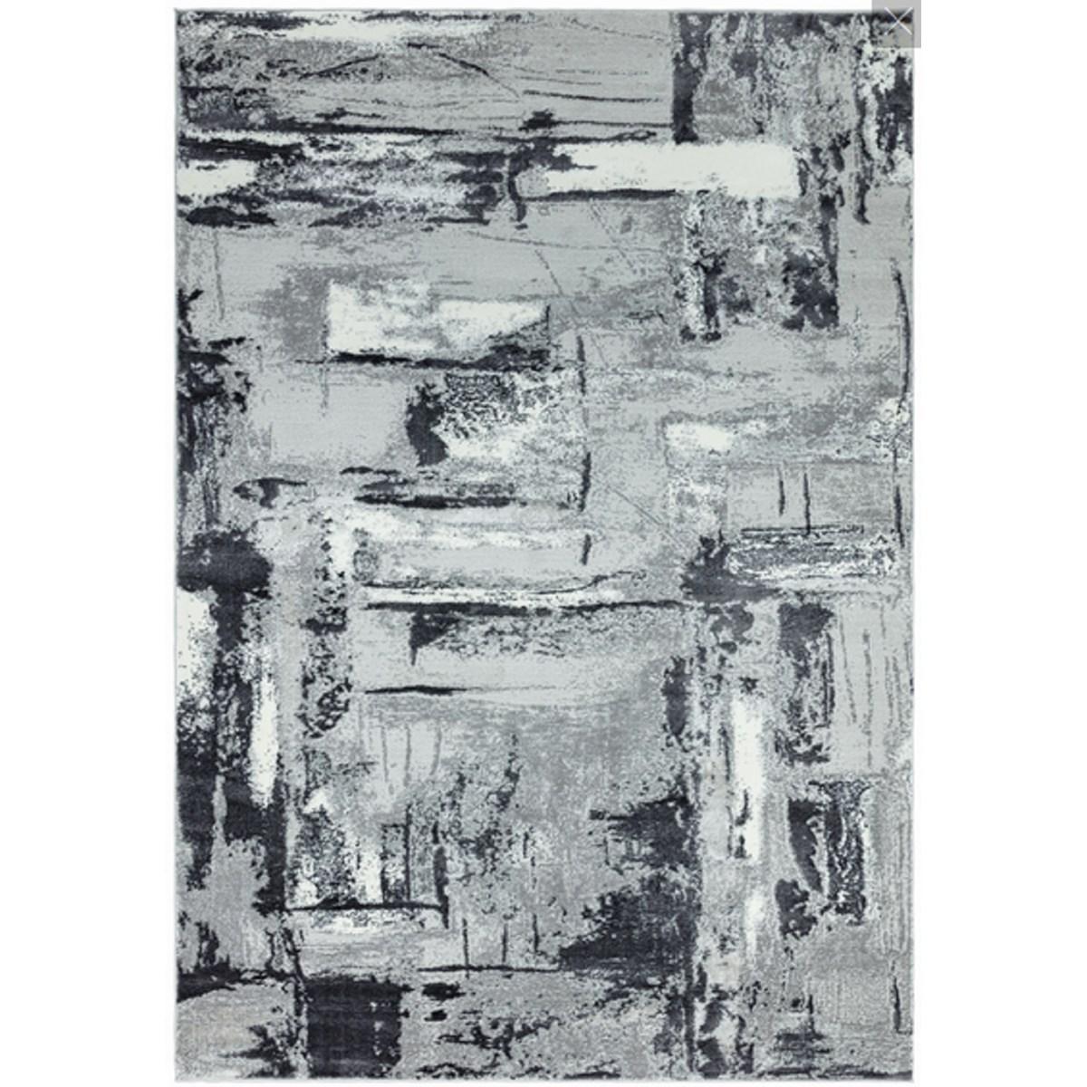 Tapis de salon moderne en Polyester Gris 200x290 cm