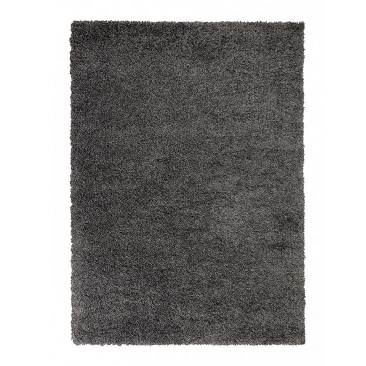Tapis shaggy en Polypropylène Gris anthracite 80x160 cm