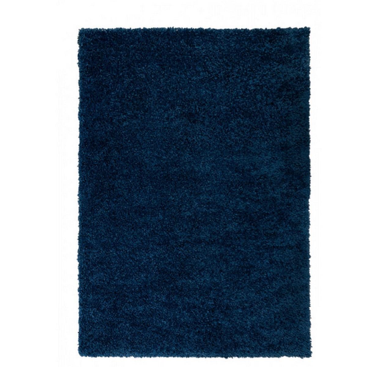 Tapis shaggy en Polypropylène Bleu 80x160 cm