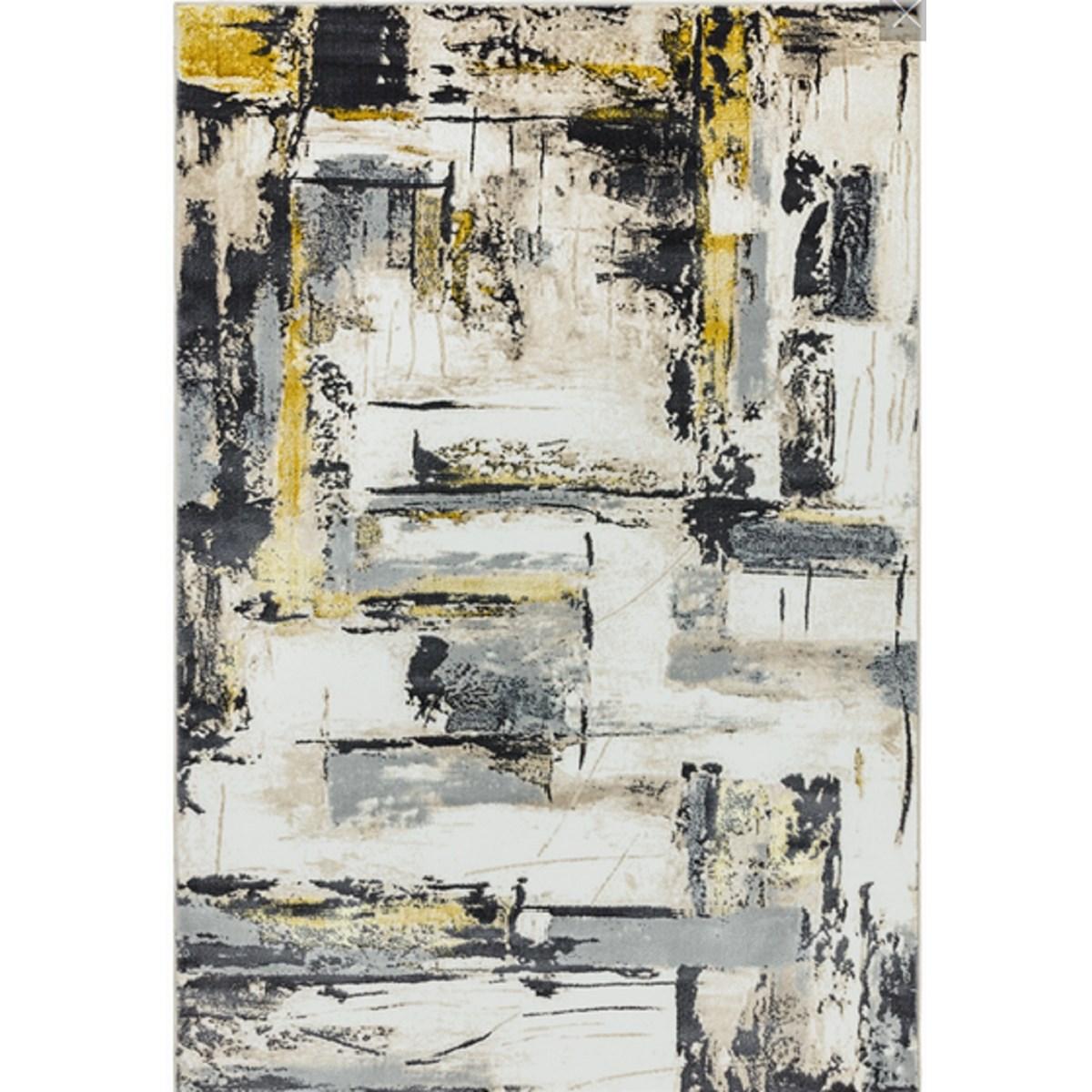 Tapis de salon moderne en Polyester Jaune 200x290 cm
