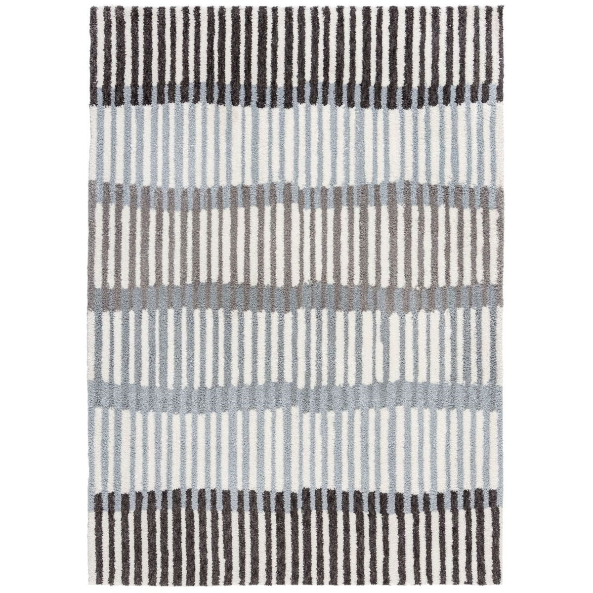Tapis de salon moderne en Polyester Gris 120x170 cm