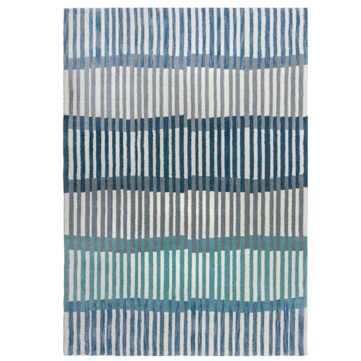 Tapis de salon moderne en Polyester Bleu 160x230 cm