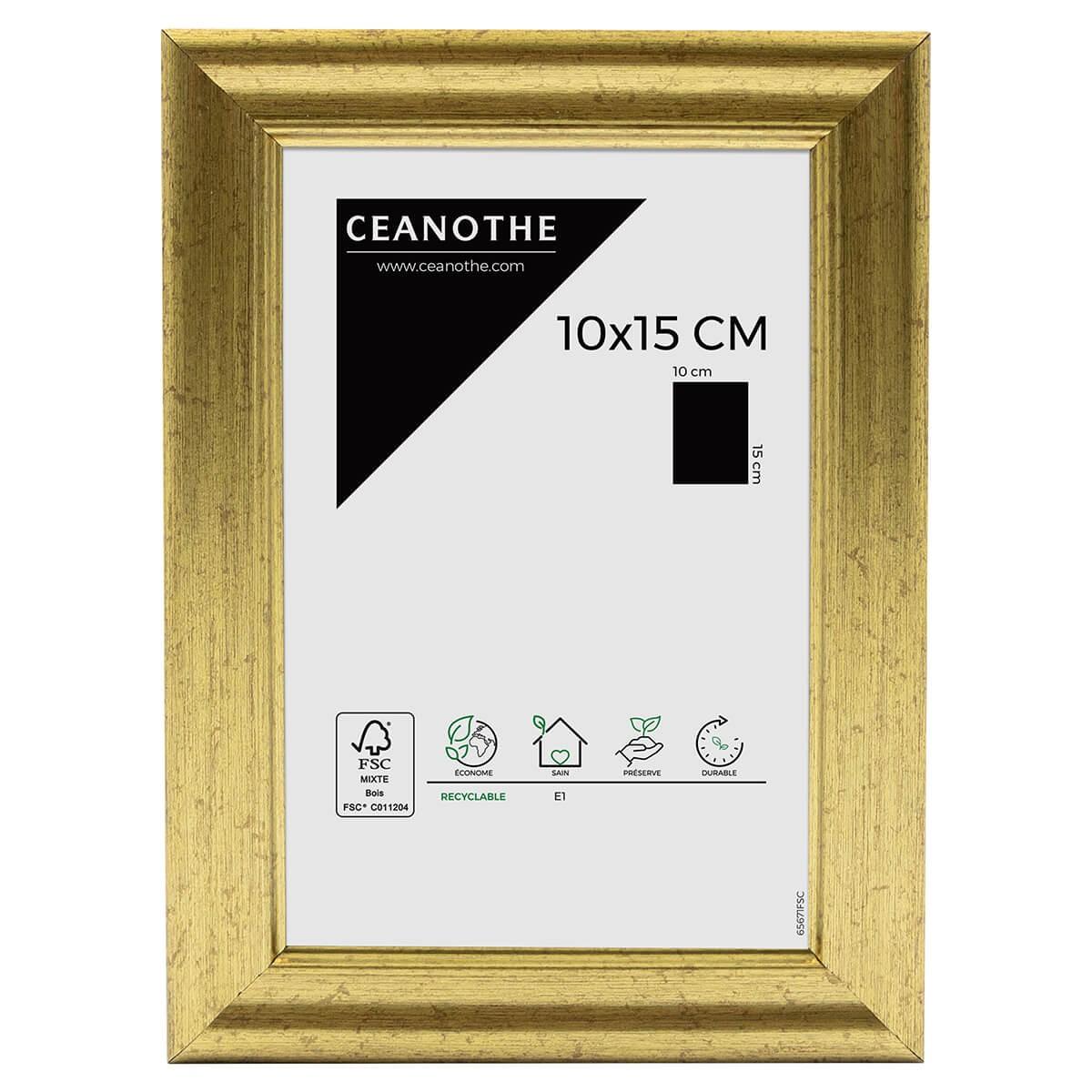 Cadre photo Classique doré 10x15 cm