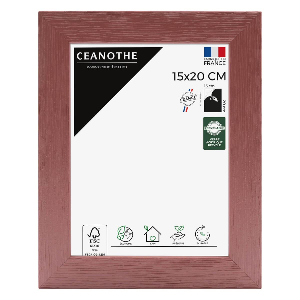Cadre photo bois reconstitué Terracotta 15x20 cm