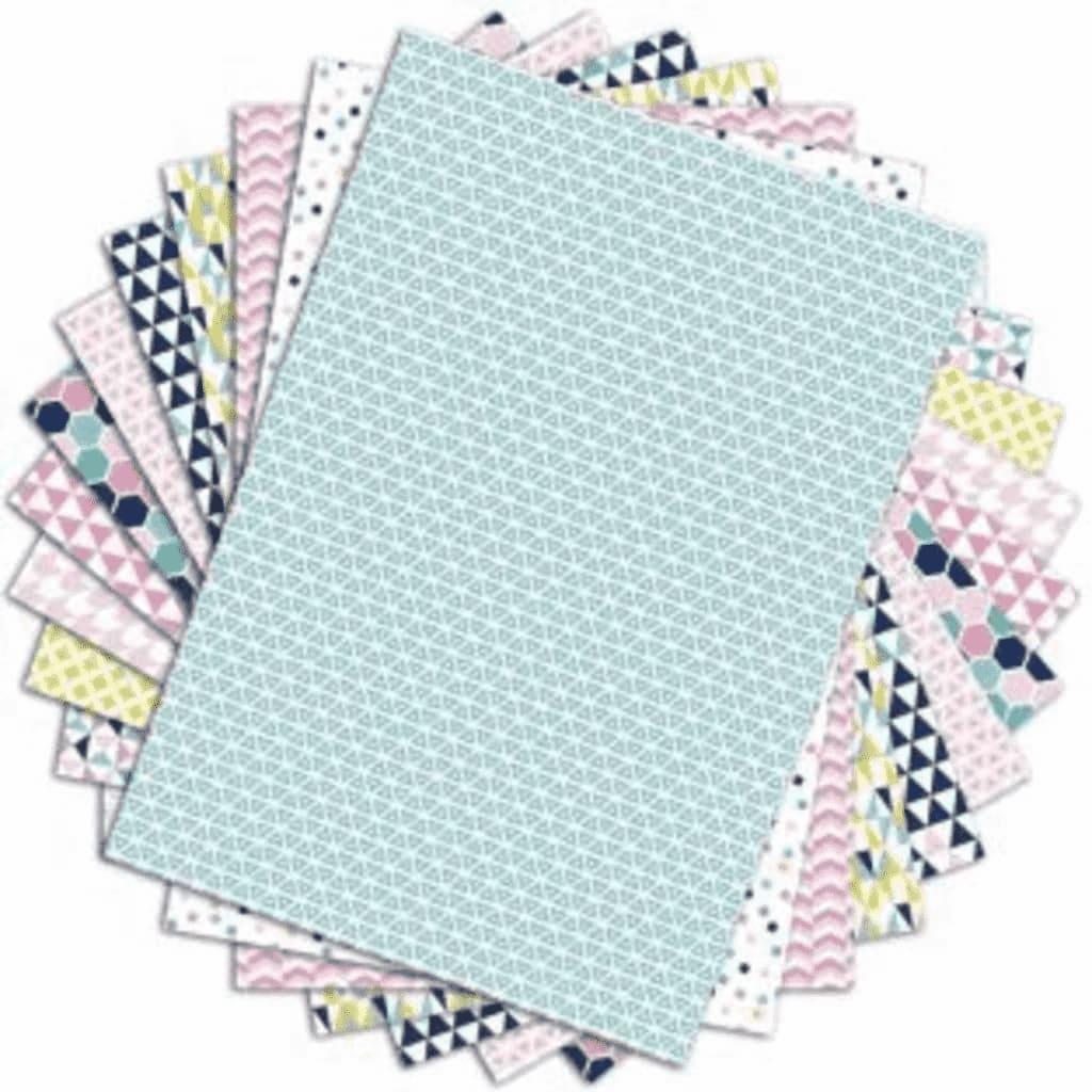 48 feuilles à scrapbooking géométrique pastels A4