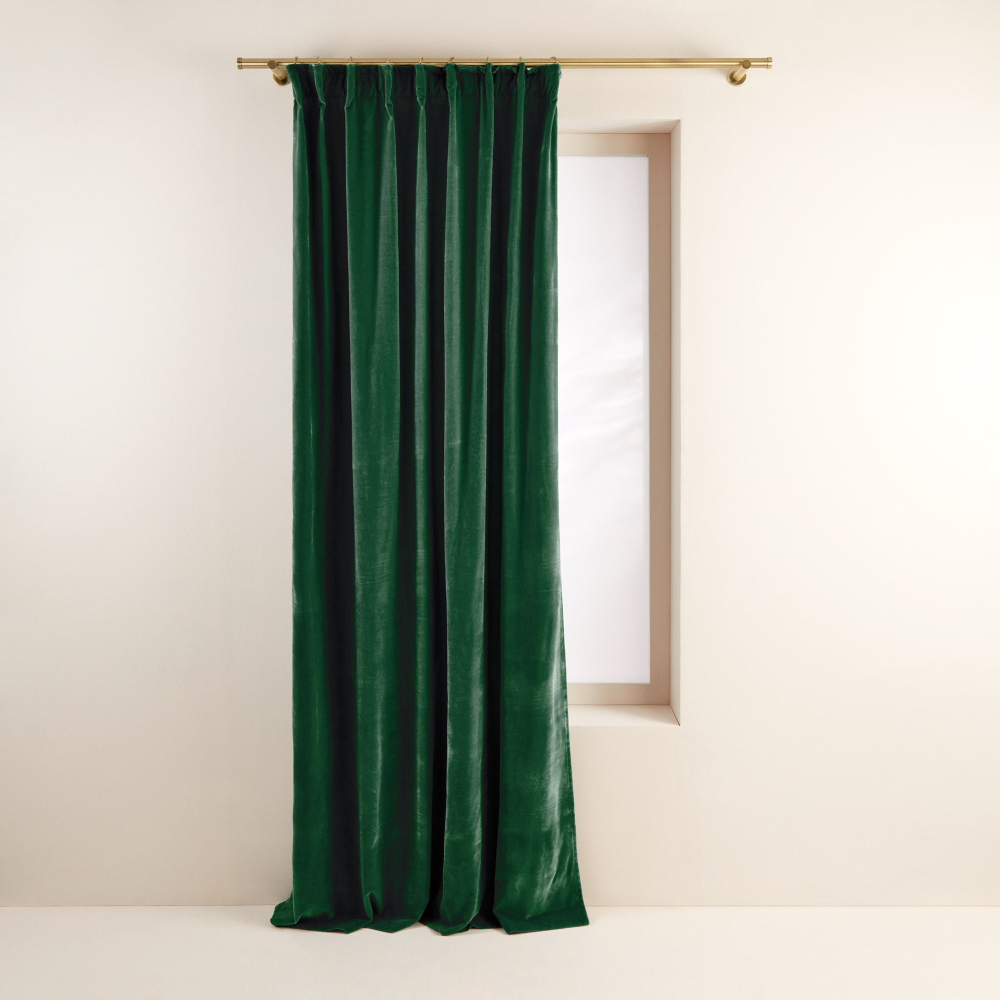 Rideau à ruban fronceur DARIO 134x280 cm Vert moyen