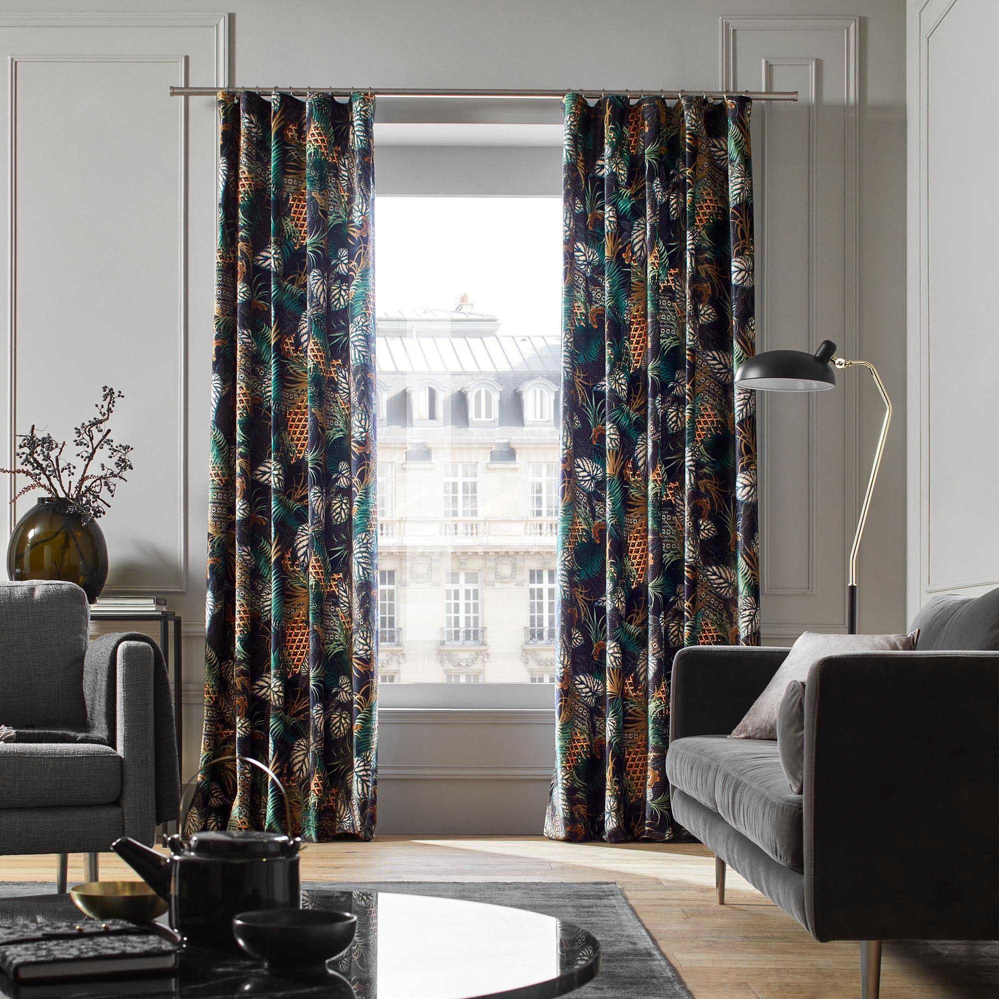 Rideau à ruban fronceur 145x275 cm Multicolore
