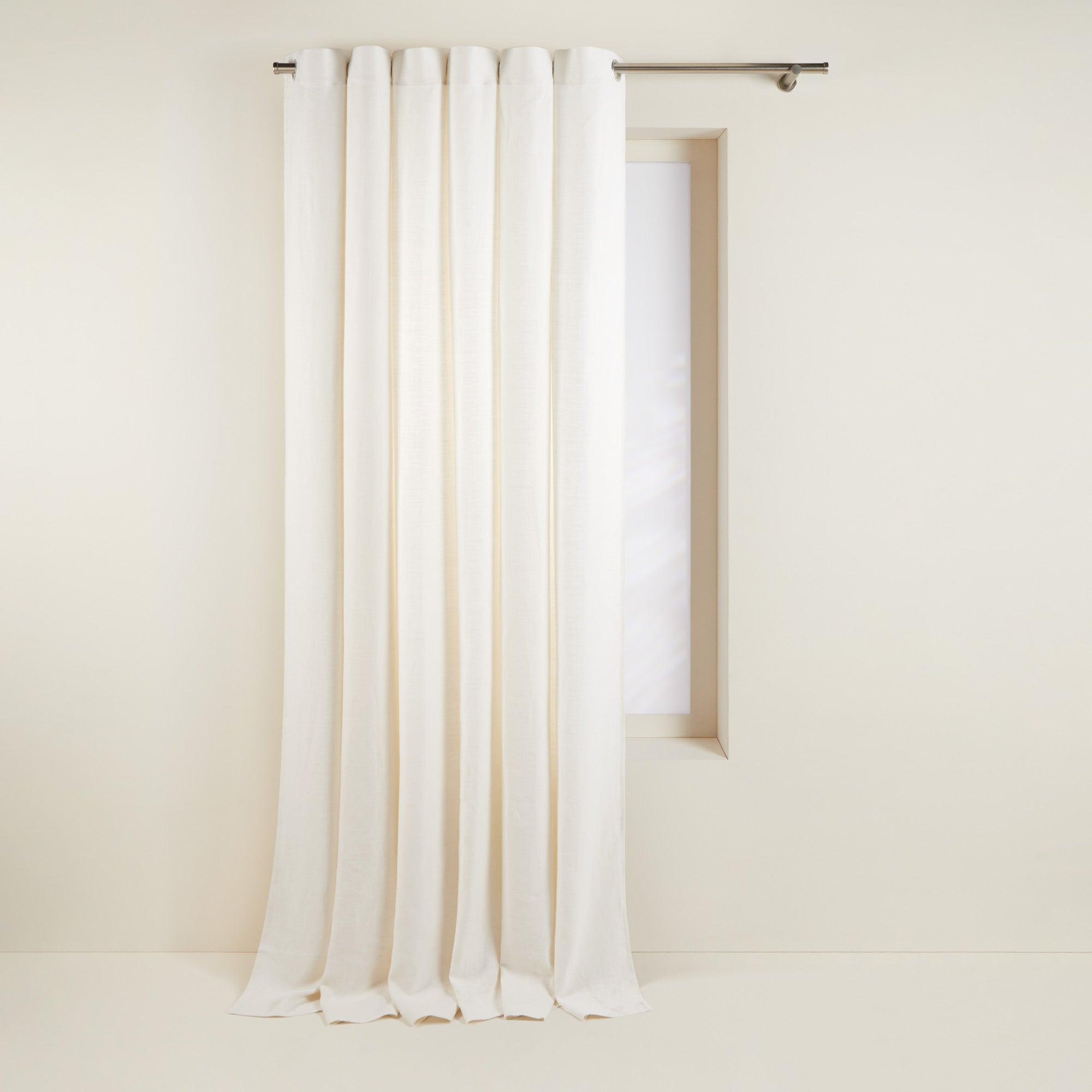 Rideau à oeillets 140x350 cm Blanc en Lin