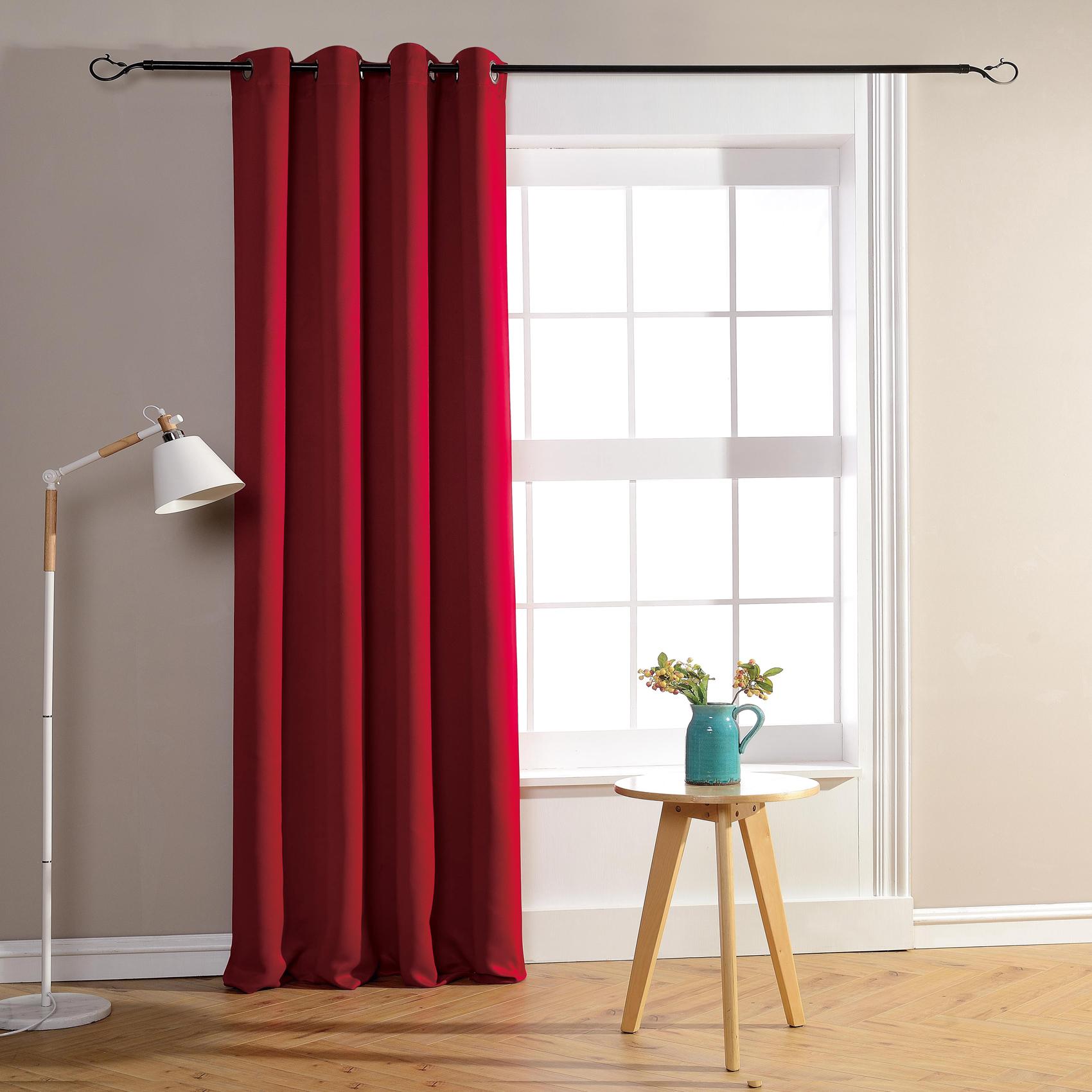 Rideau occultant pour chambre et salon occultant rouge 260x140