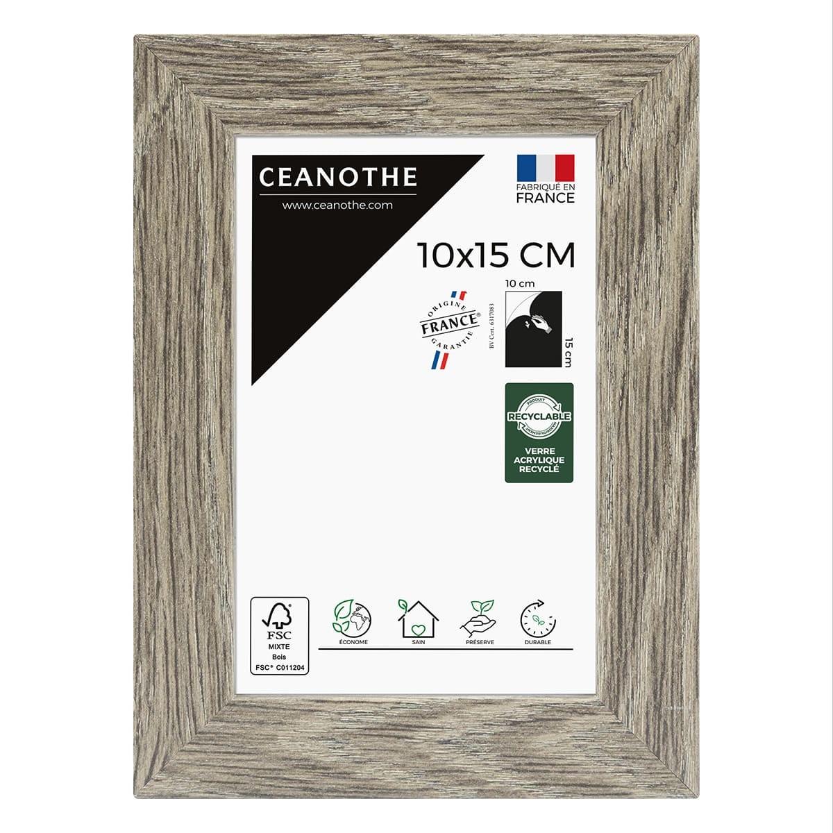 Cadre photo Nordique taupe 10x15 cm