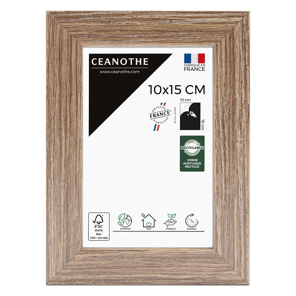 Cadre photo Nordique marron 10x15 cm