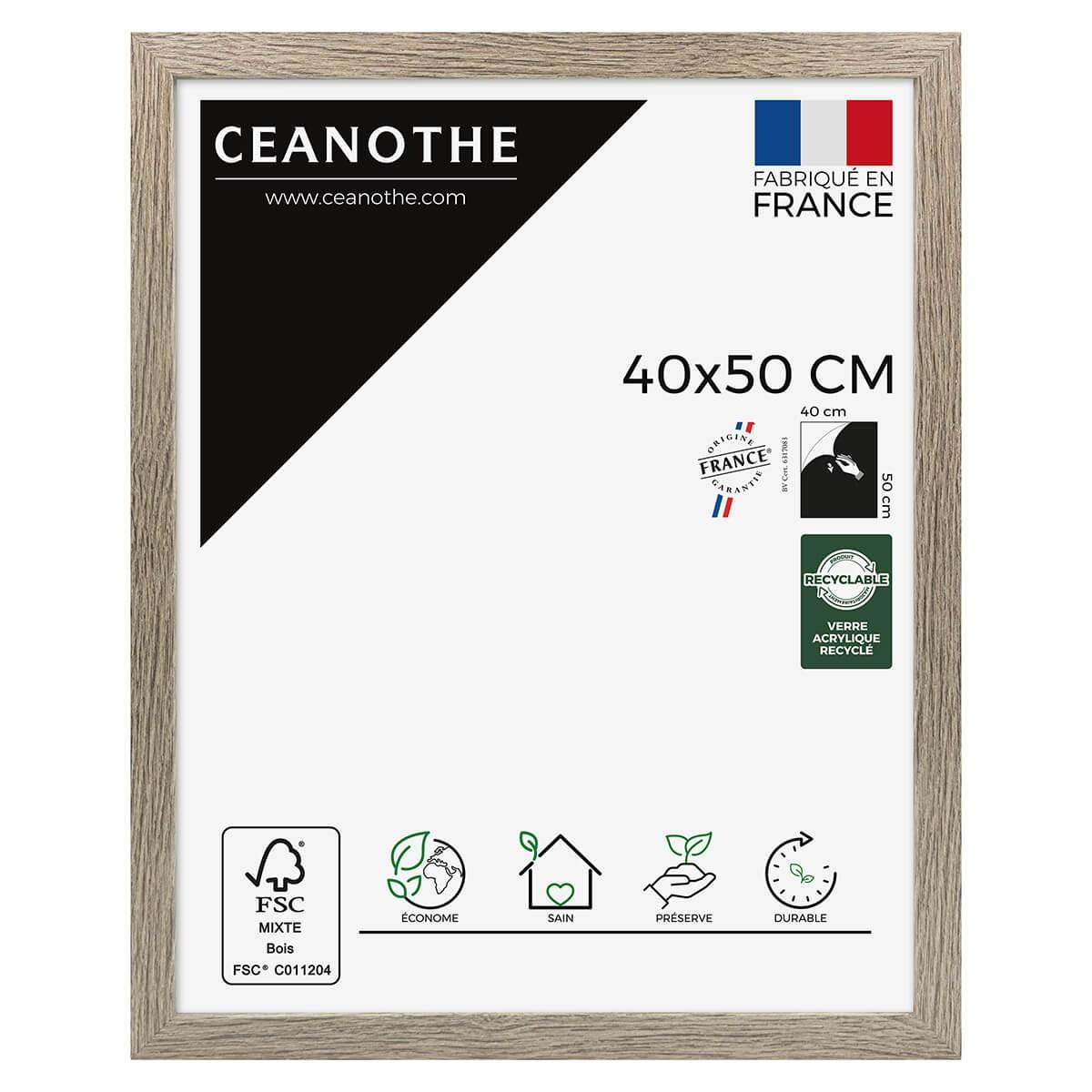 Cadre photo Nordique taupe 40x50 cm