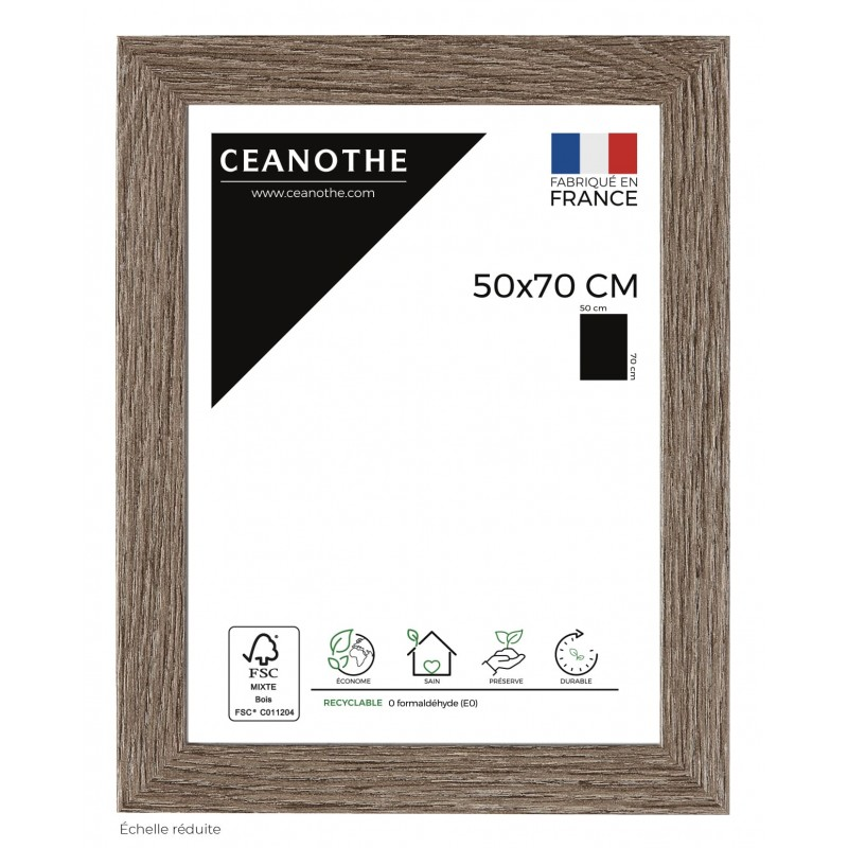 Cadre photo Nordique taupe 50x70 cm