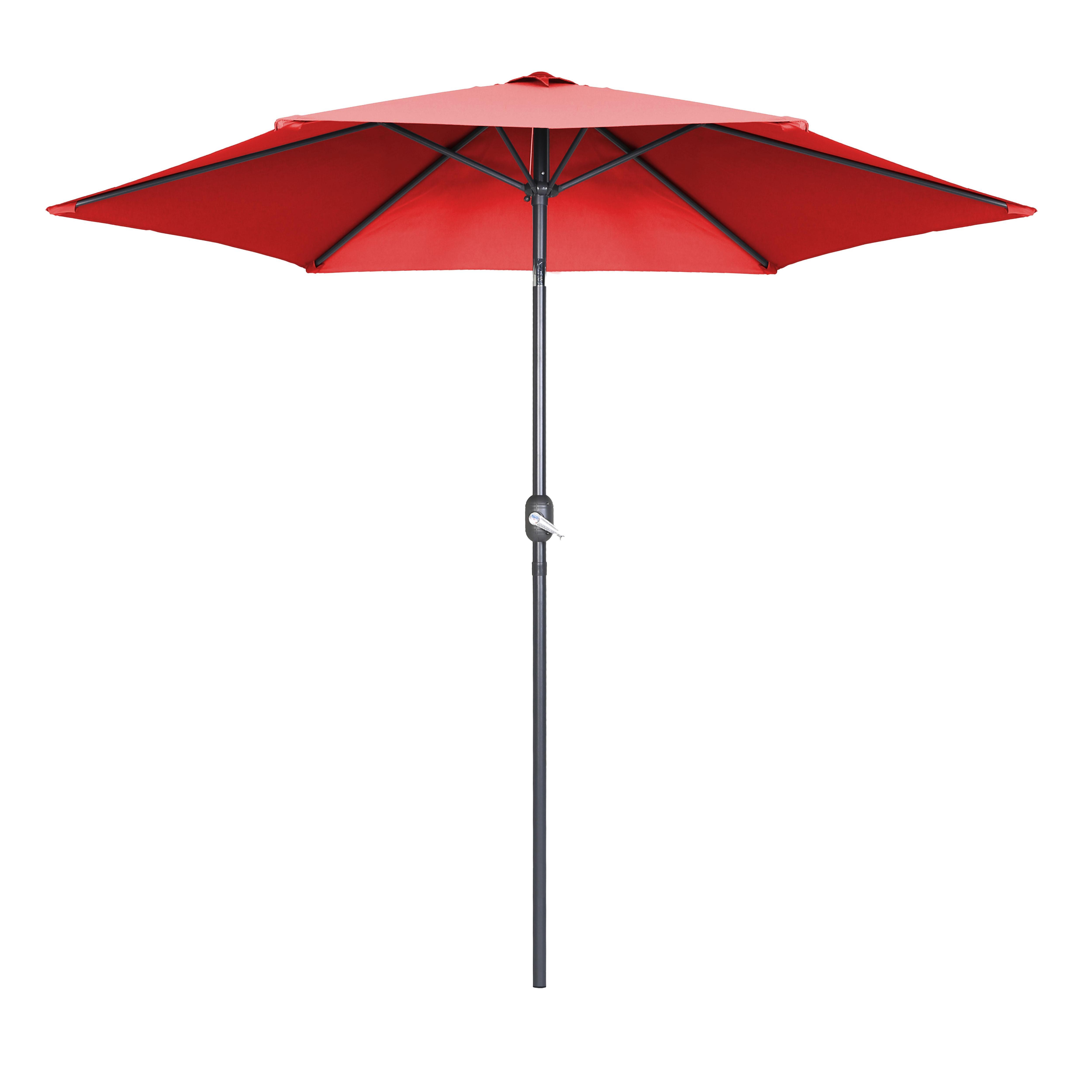 Parasol droit à manivelle inclinable