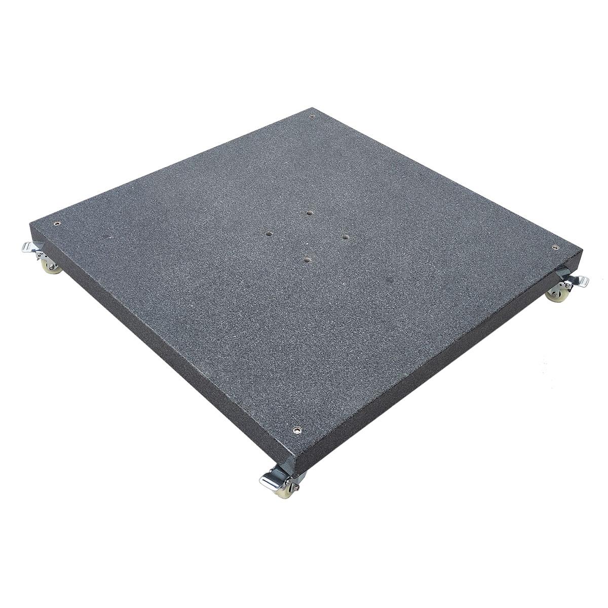 Base à roulettes en granit gris foncé 120 kg