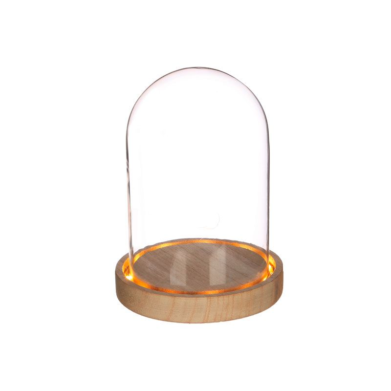 Cloche en verre lumineuse 16,5cm x Ø 12,5cm