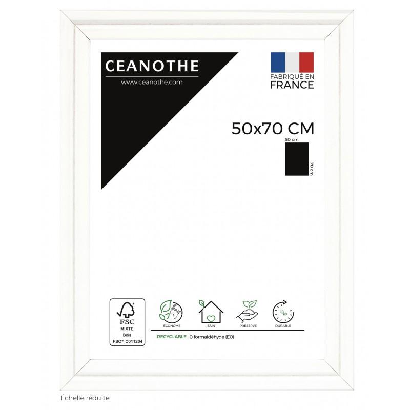 Cadre photo Couture Blanc 50x70