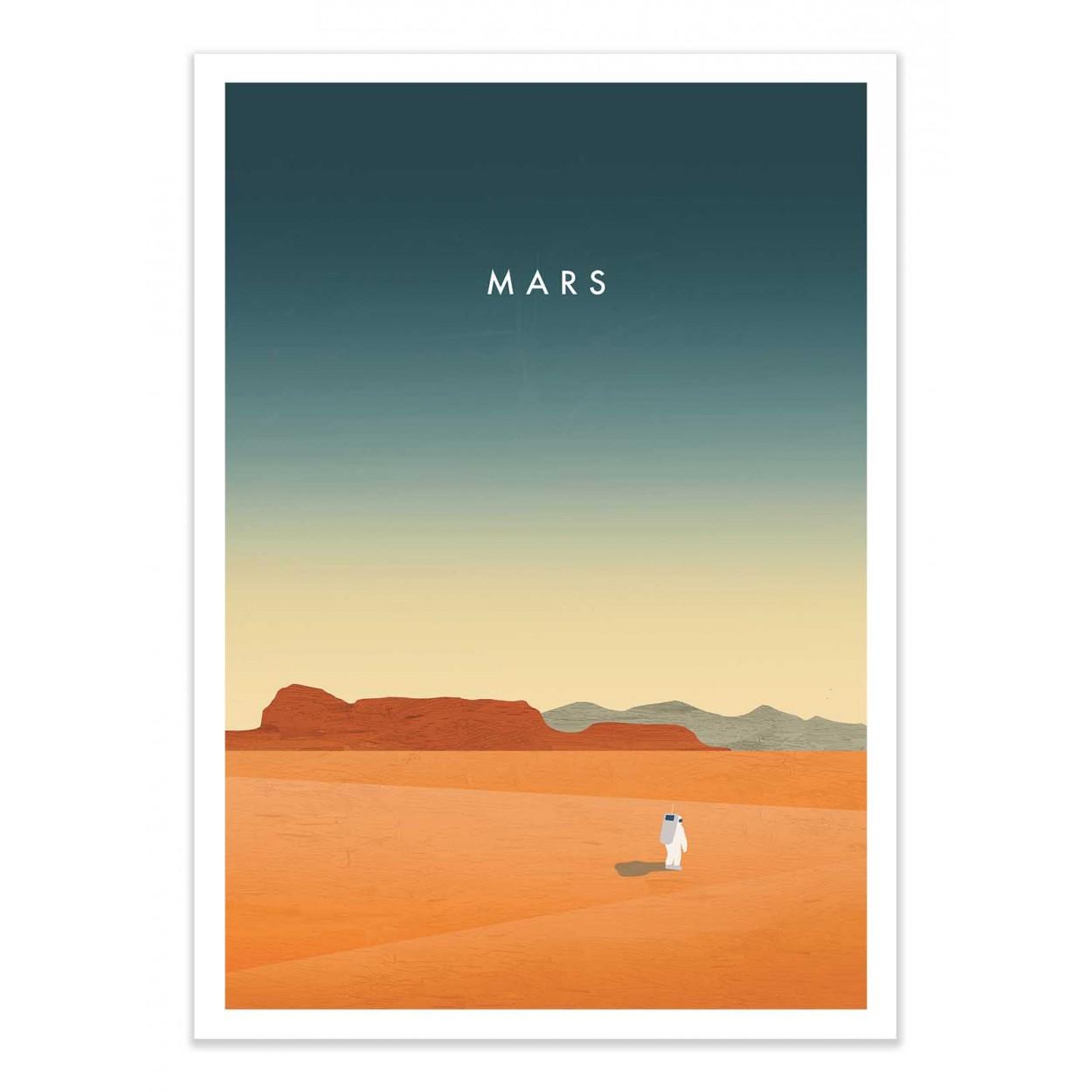 MARS -  Affiche d'art 50 x 70 cm