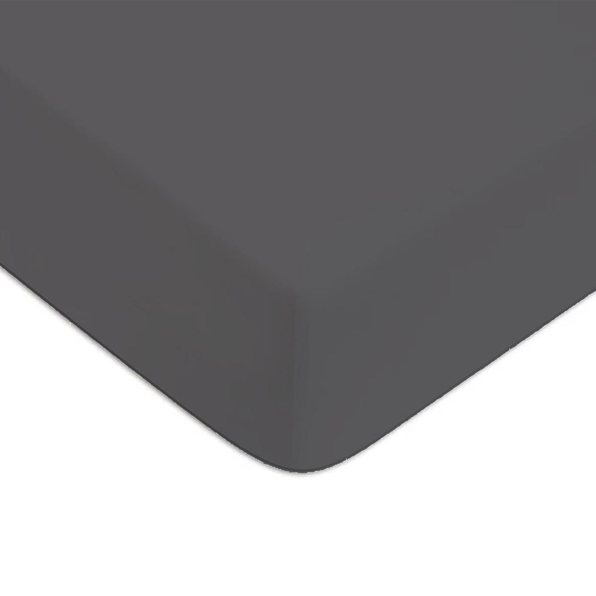 Drap housse Zinc 90x200cm 57 fils