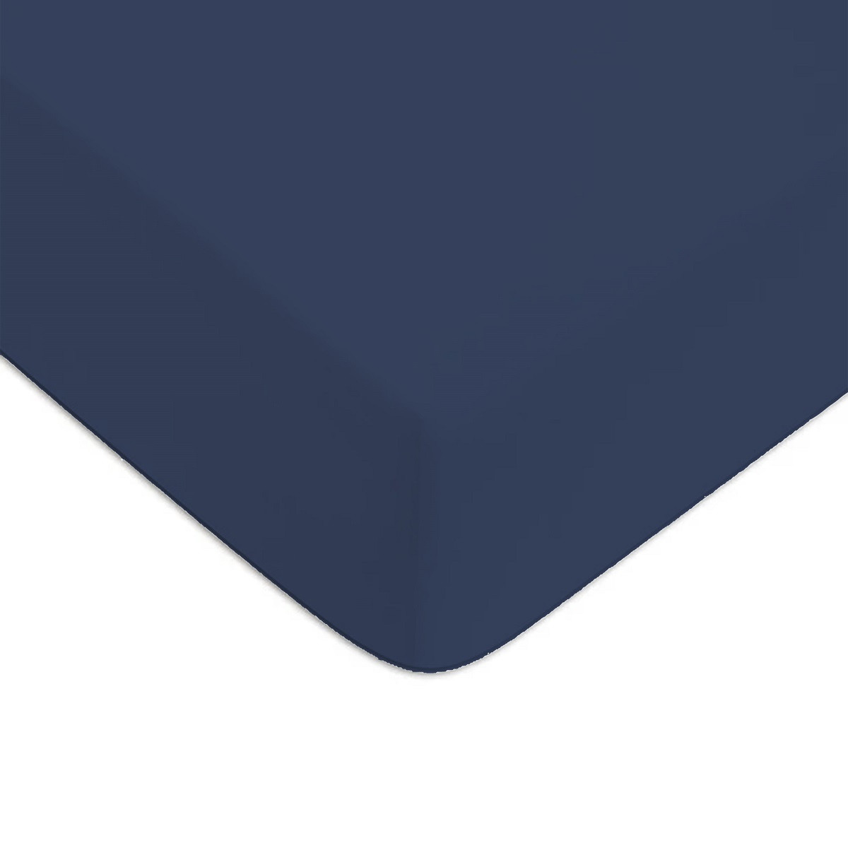 Drap housse Bleu 160x200cm 57 fils