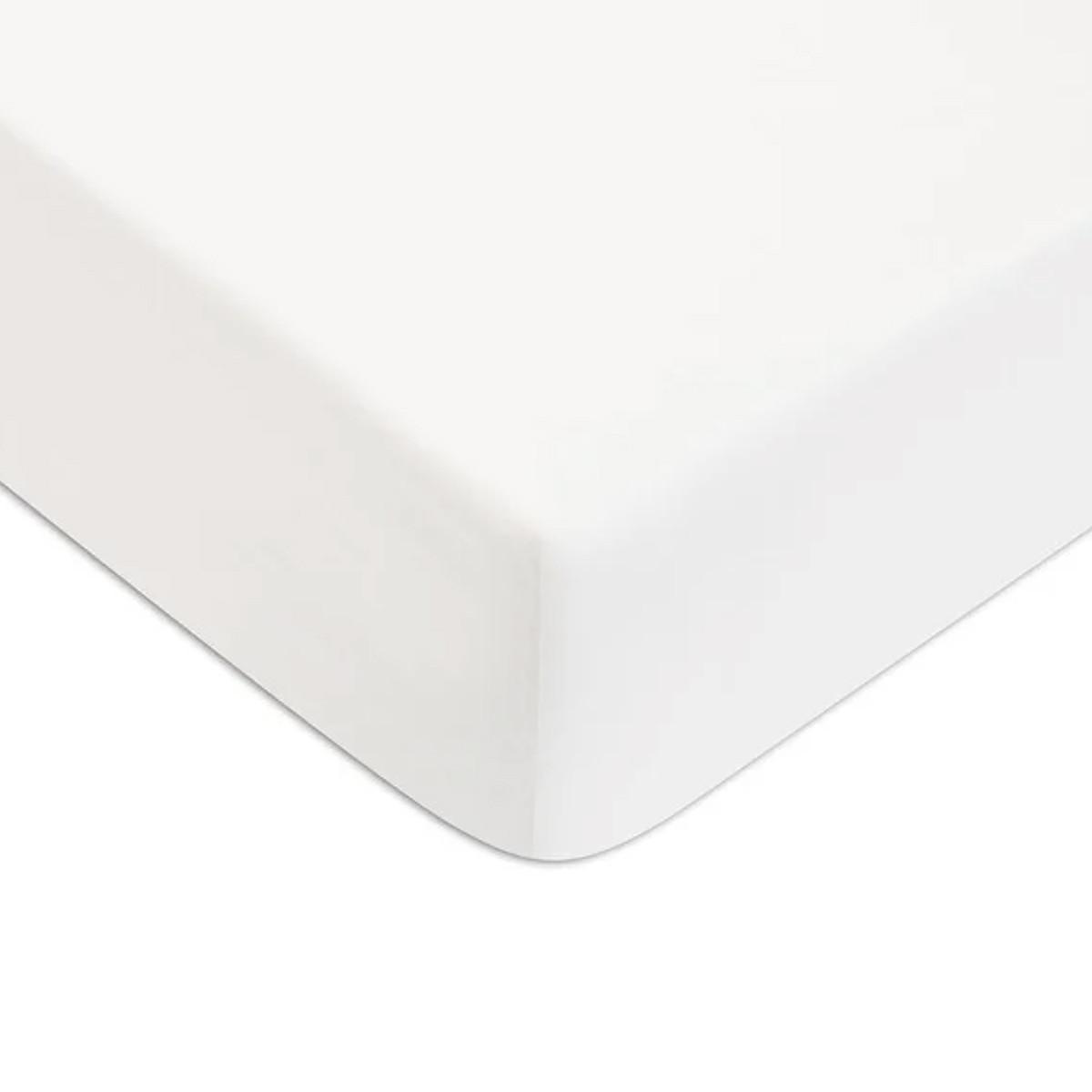 Drap housse Blanc 160x200cm 57 fils