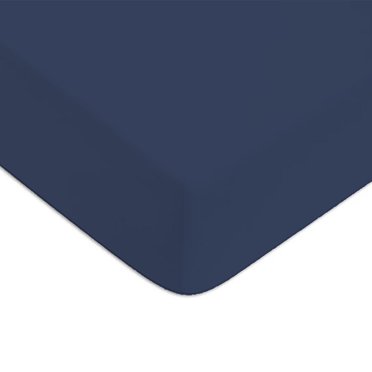 Drap housse Bleu 140x200cm 57 fils