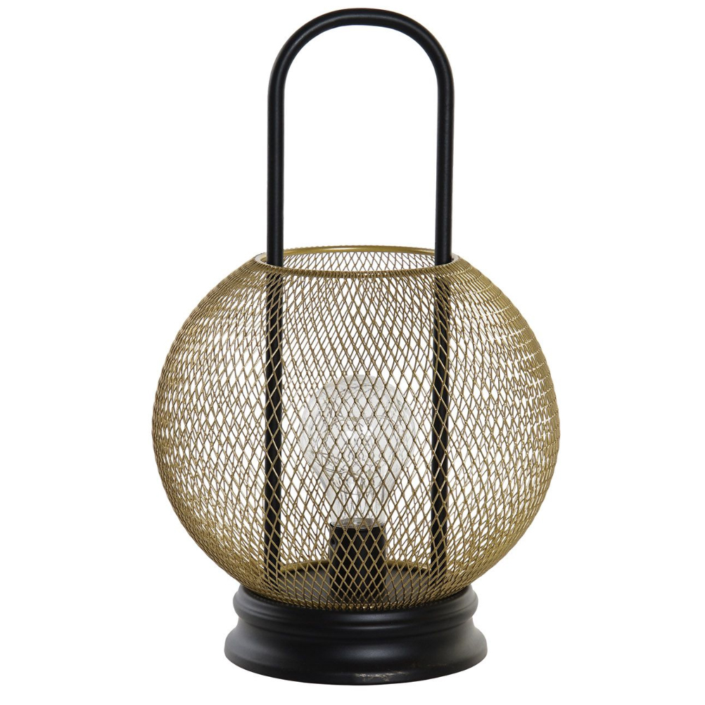 Lampe en métal transportable LED H32cm