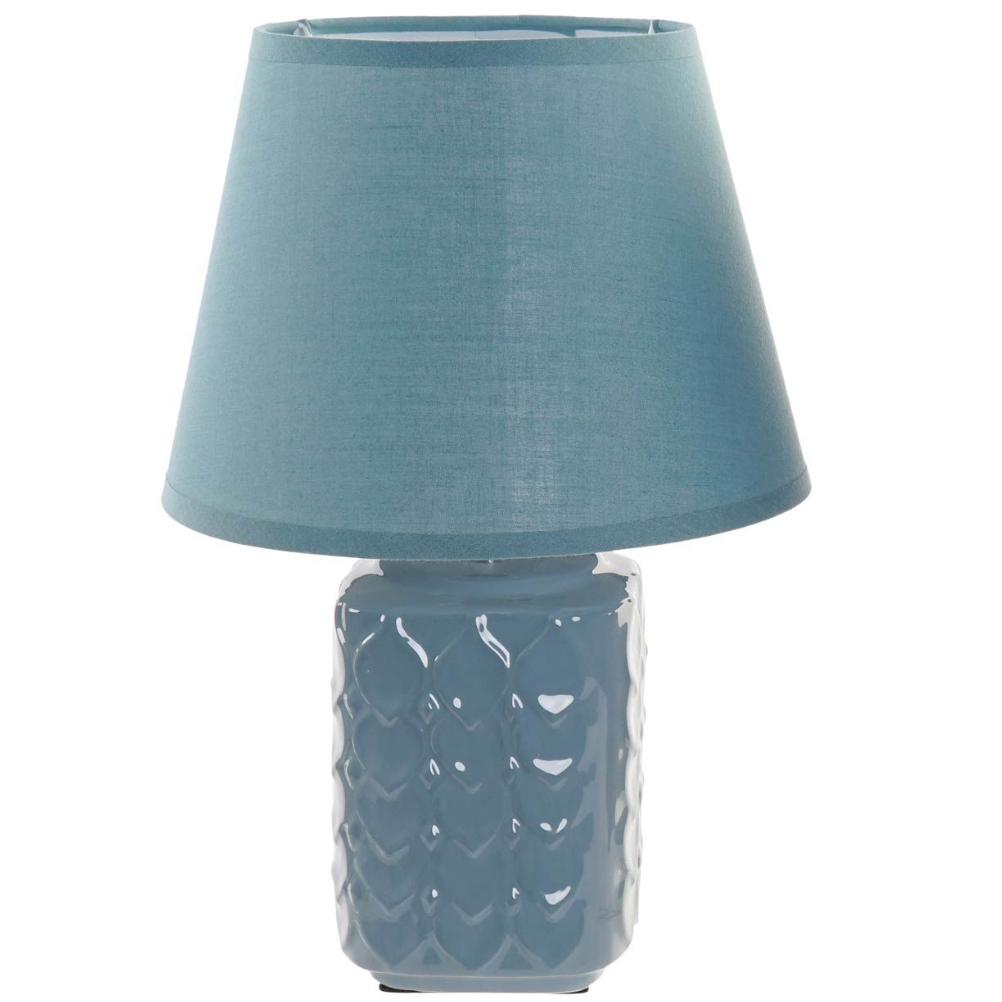 Lampe bleue en dolomite 22x33cm
