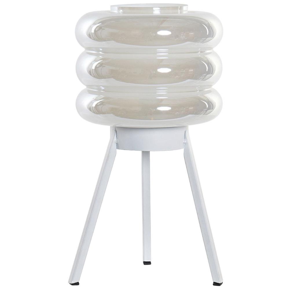Lampe en verre irisé transportable LED H32cm