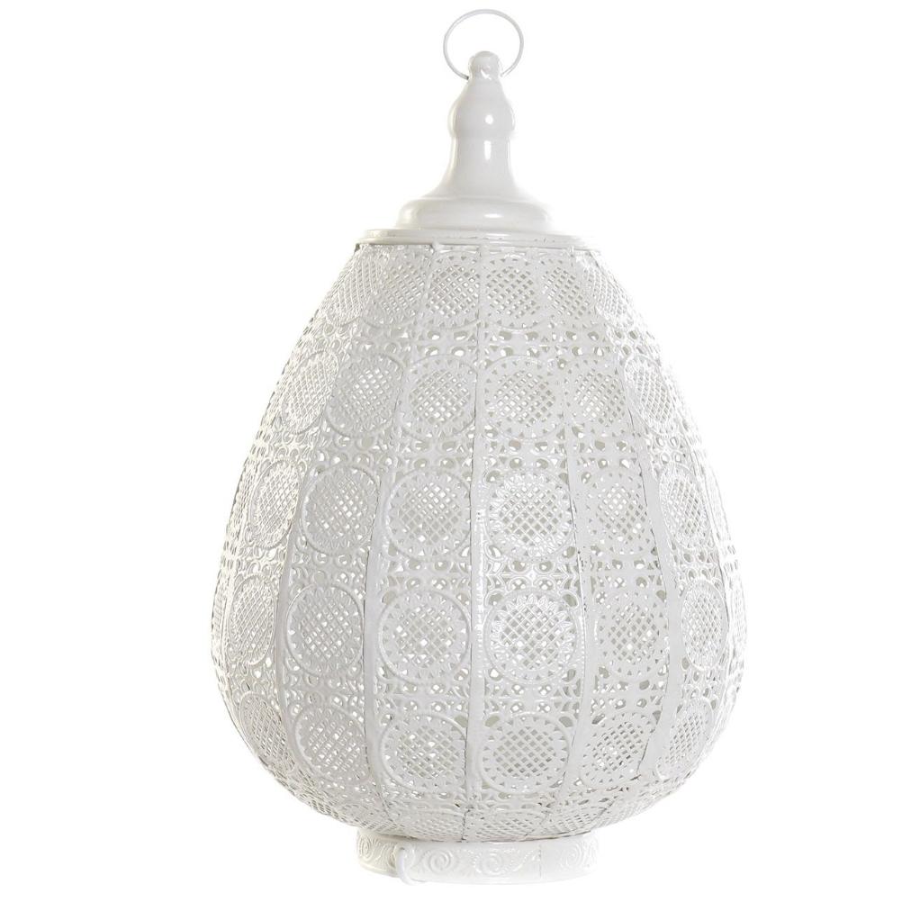 Lampe à poser en métal blanc H50cm