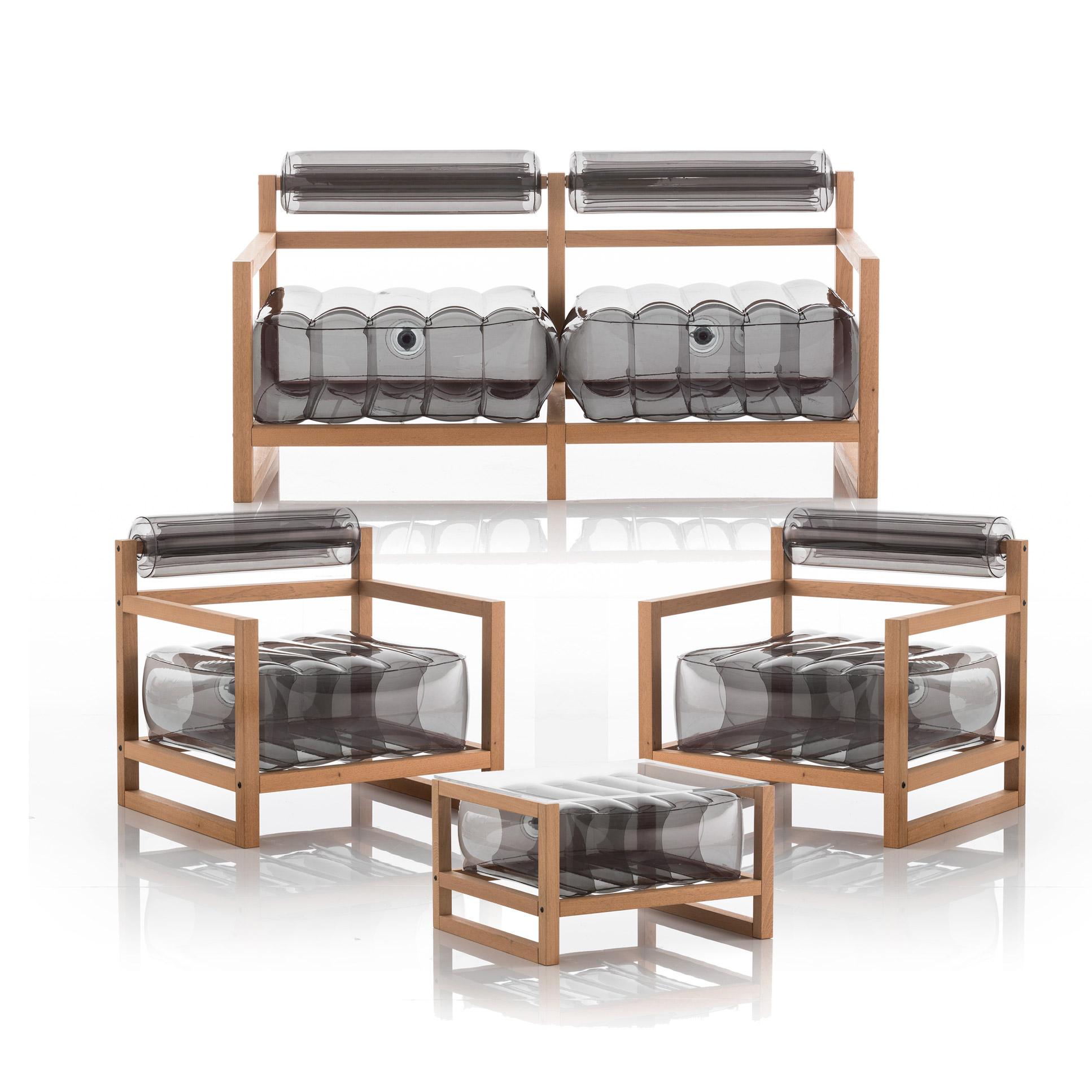 Salon de jardin design et table basse noir