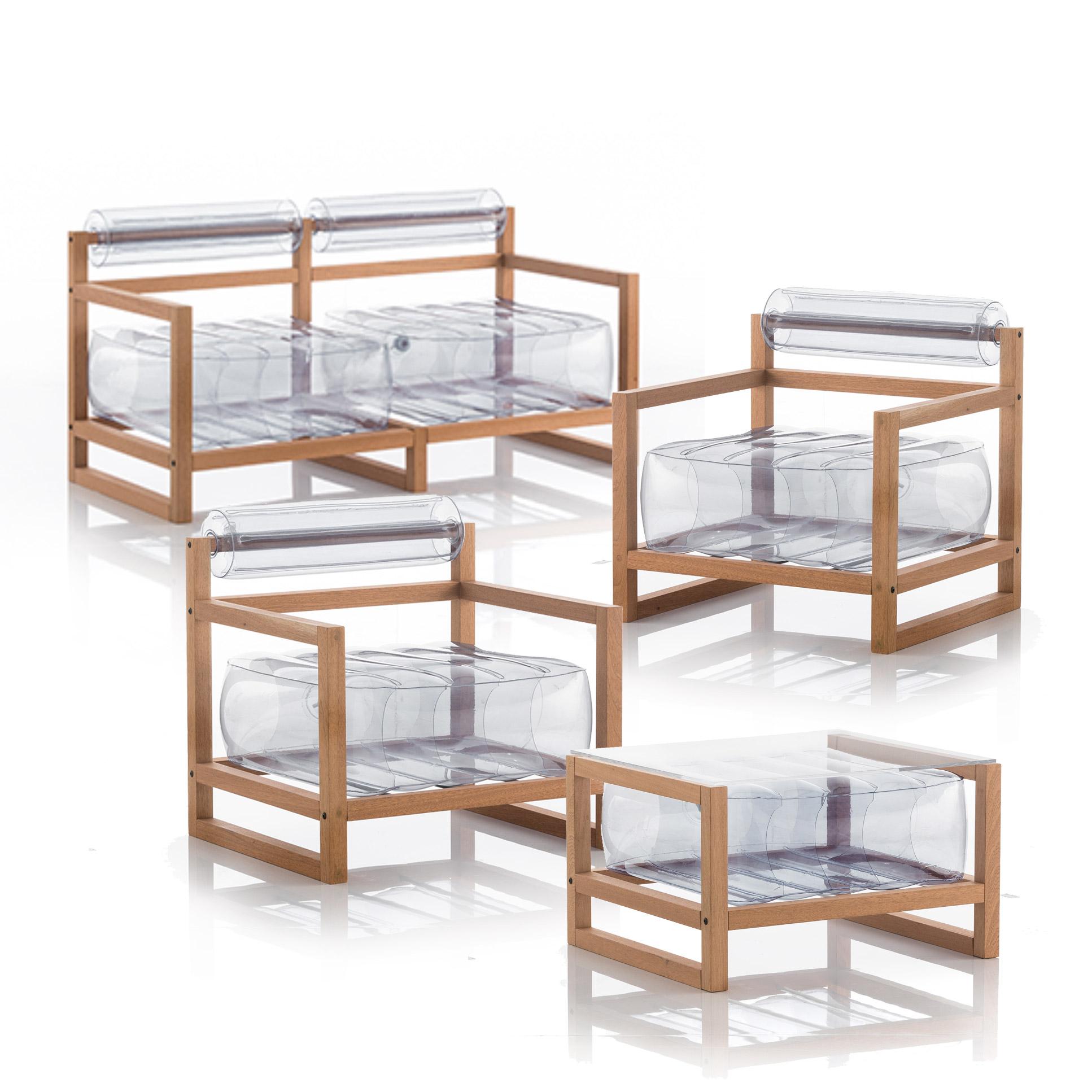 Salon de jardin design et table basse transparent
