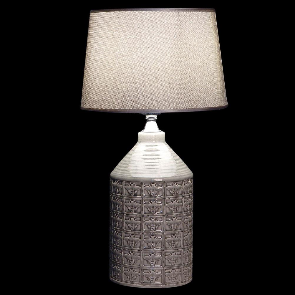 Grande lampe grise en porcelaine H57cm