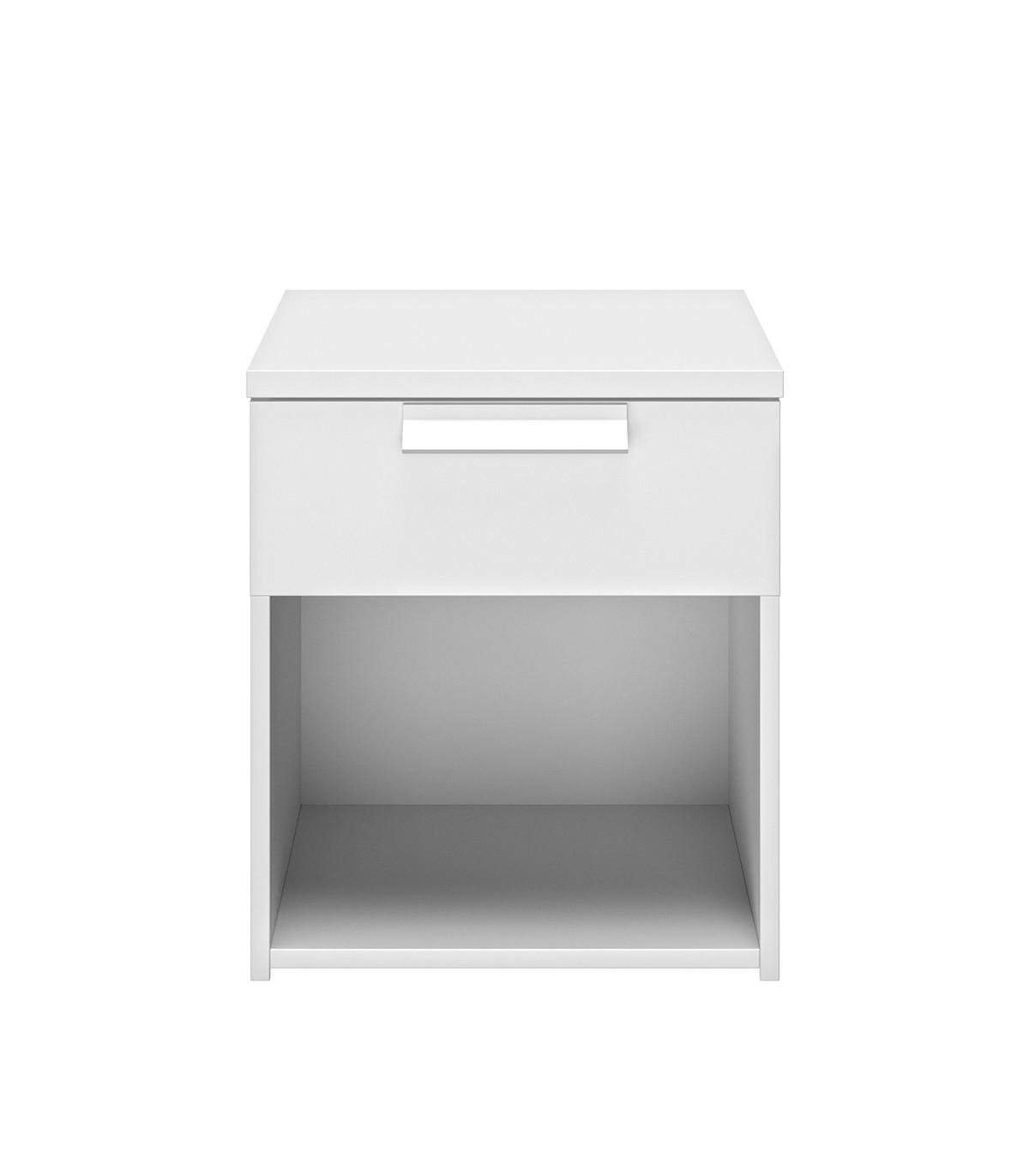 Chevet 1 tiroir H50cm - Blanc