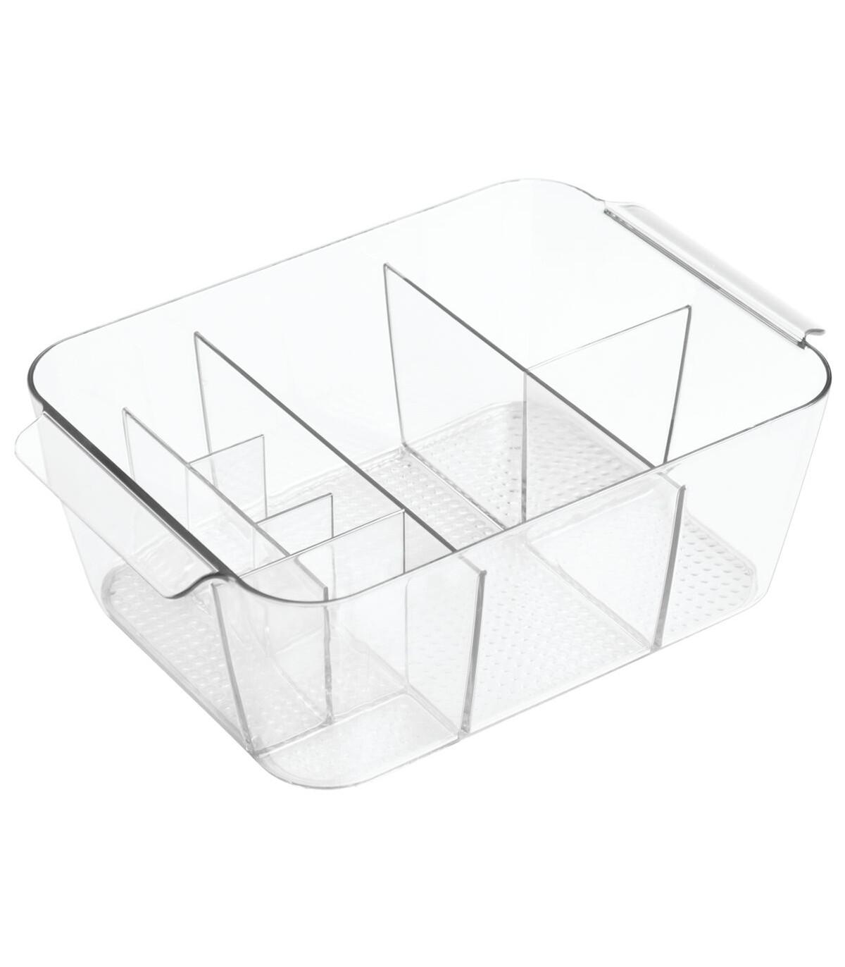 Panier de rangement cosmétique 11 compartiments - Transparent