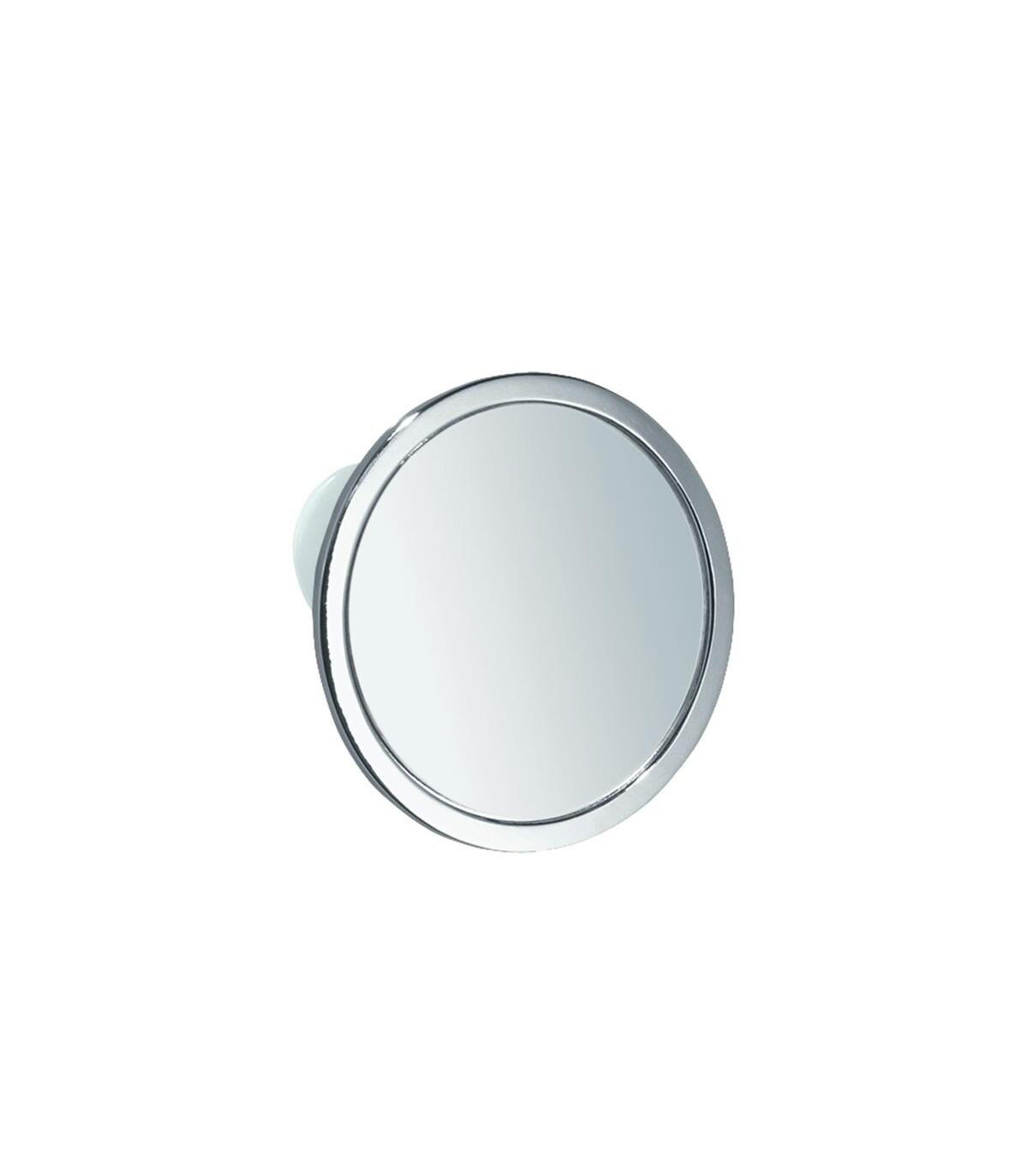 Miroir à ventouse chromé - Argent