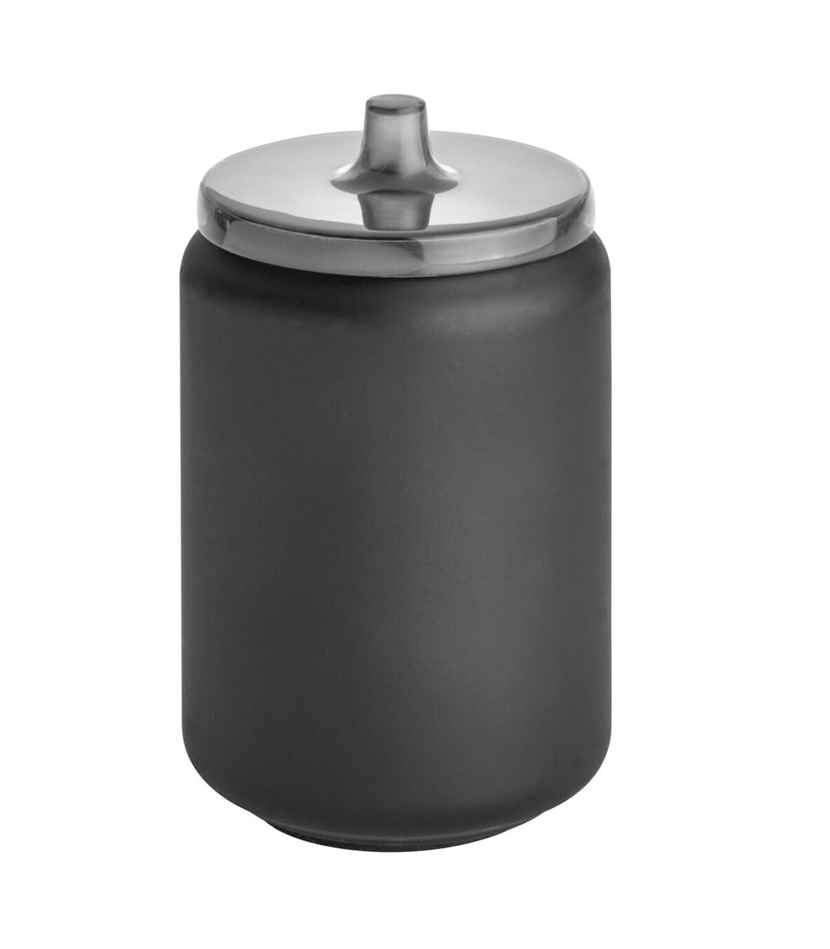 Boîte à cotons avec couvercle - Noir