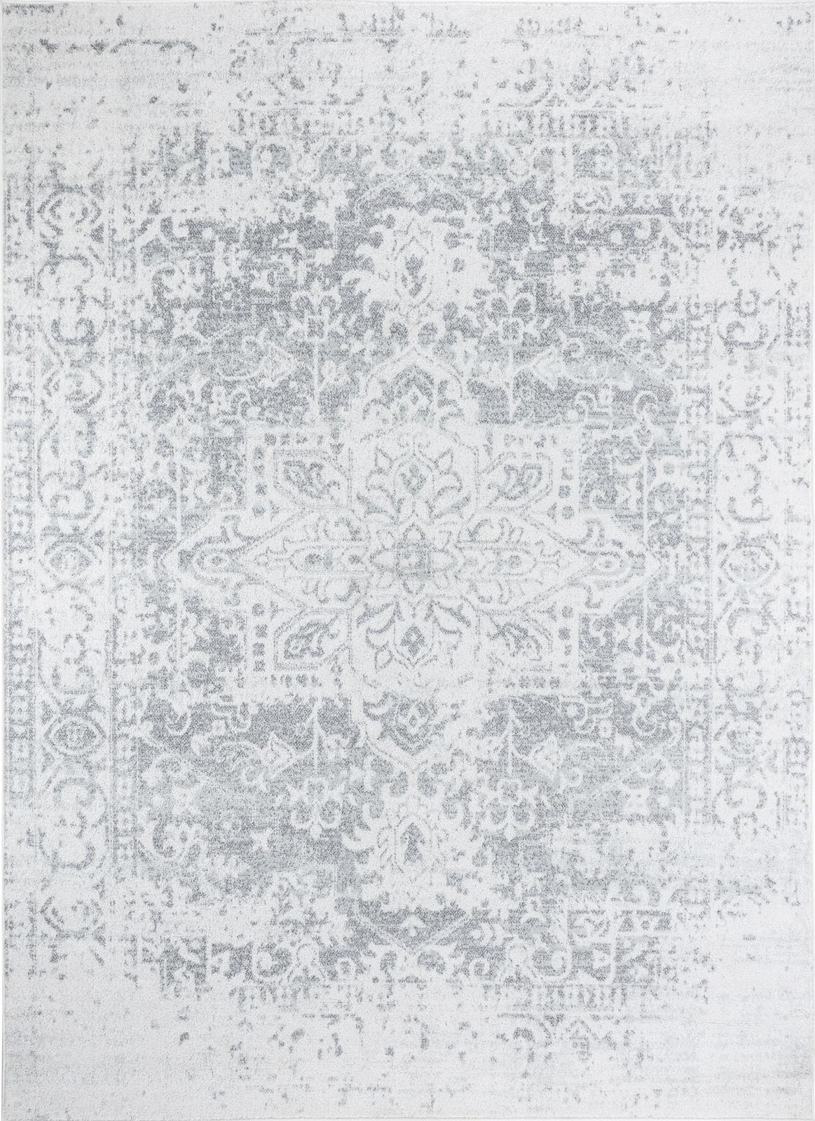 Tapis de salon classique beige et gris 120x170