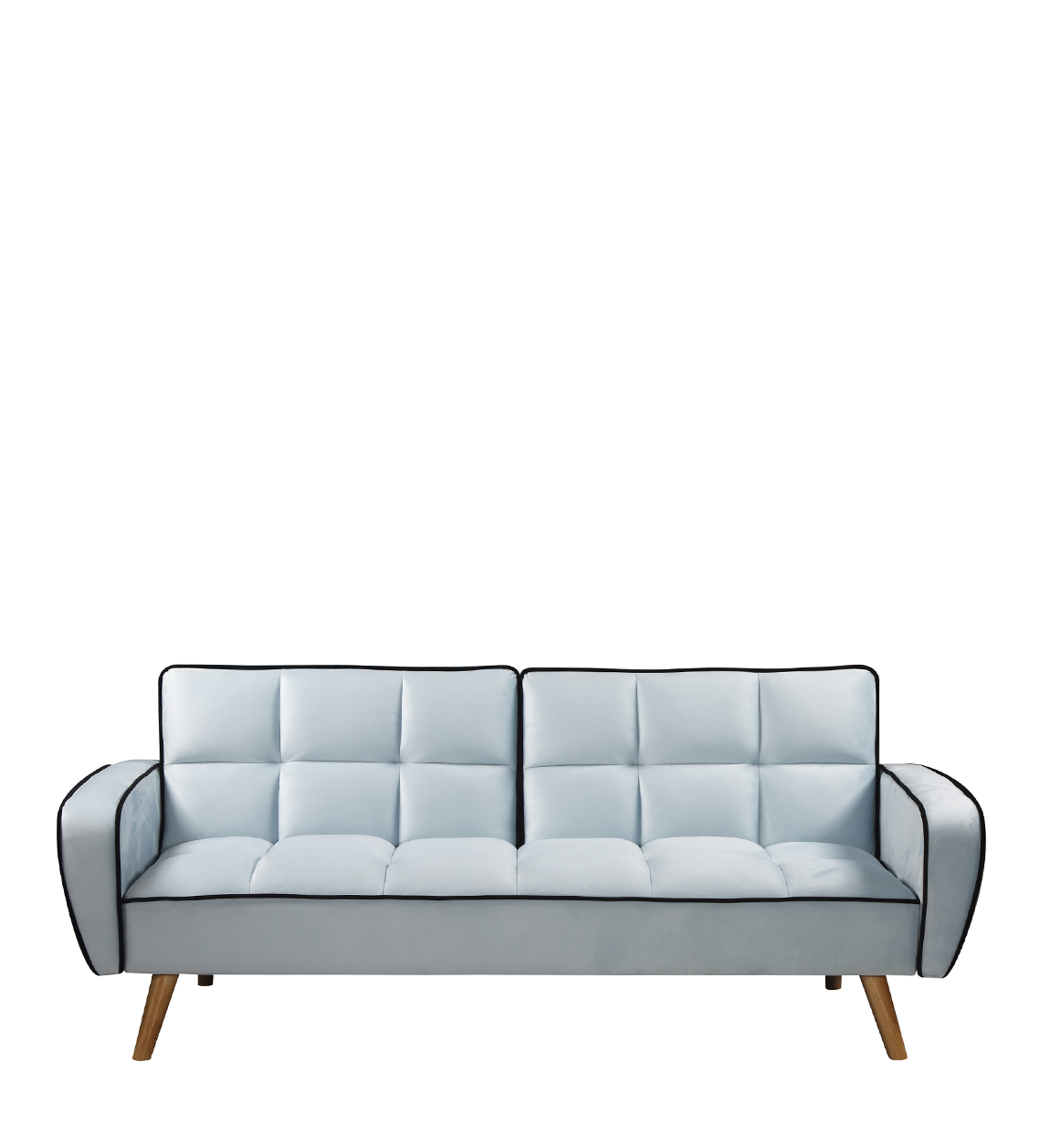 Canapé lit 2 places en velours bleu clair
