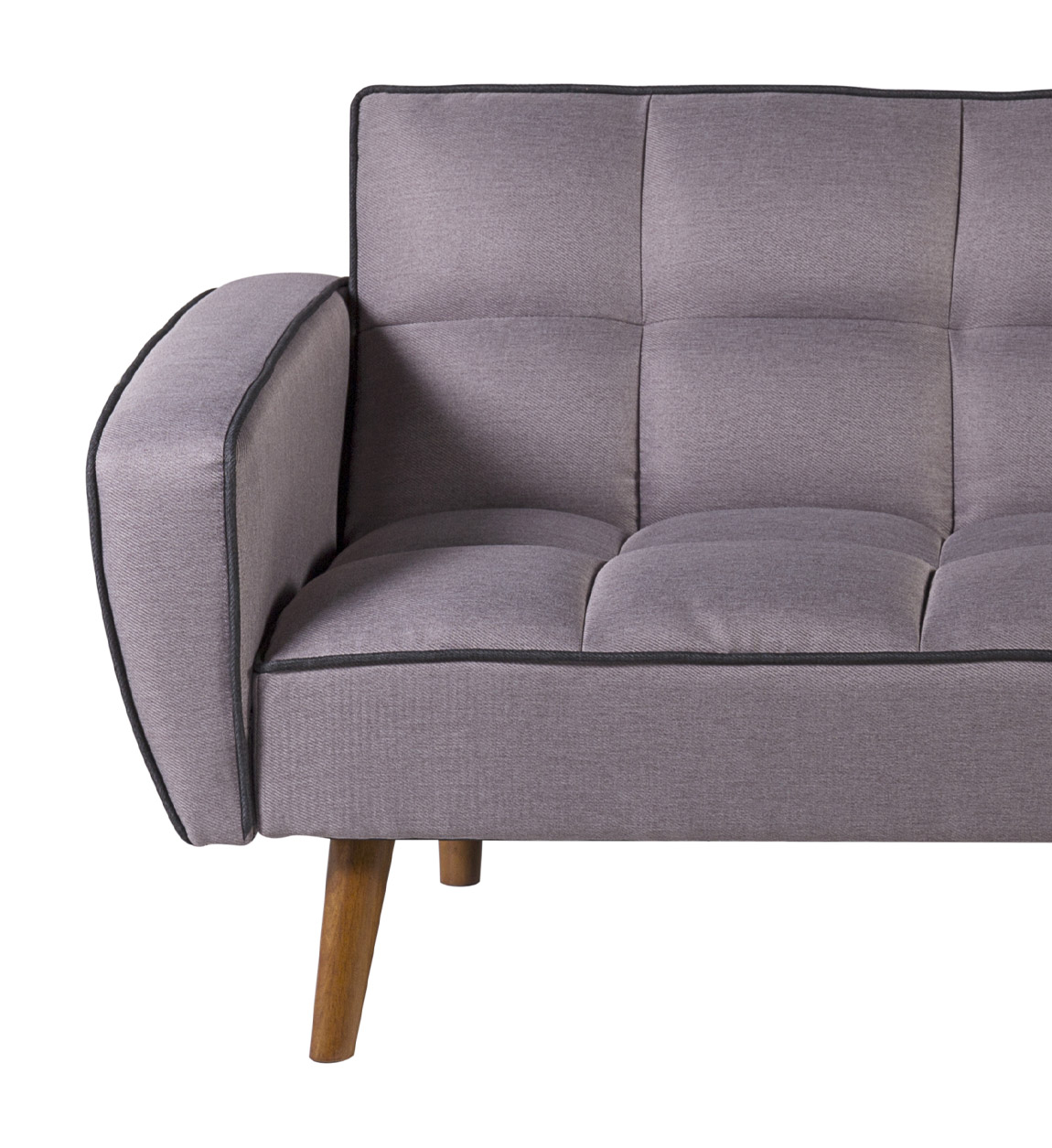 Canapé lit 2 places en tissu gris