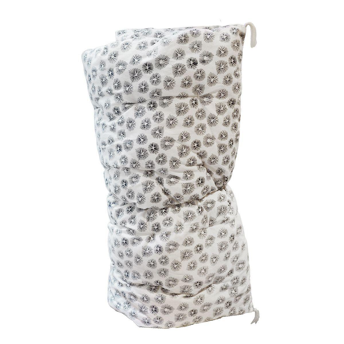 Edredon sur-matelas coton imprimé blanc