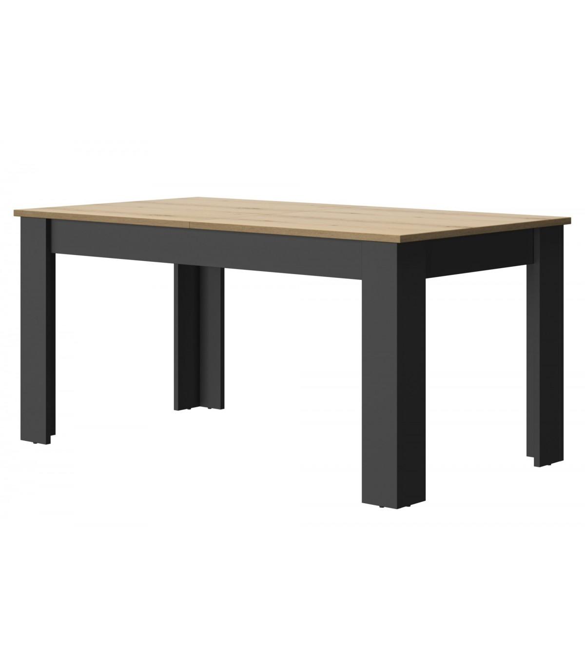 Table à manger rectangulaire extensible 8 pers. - Marron