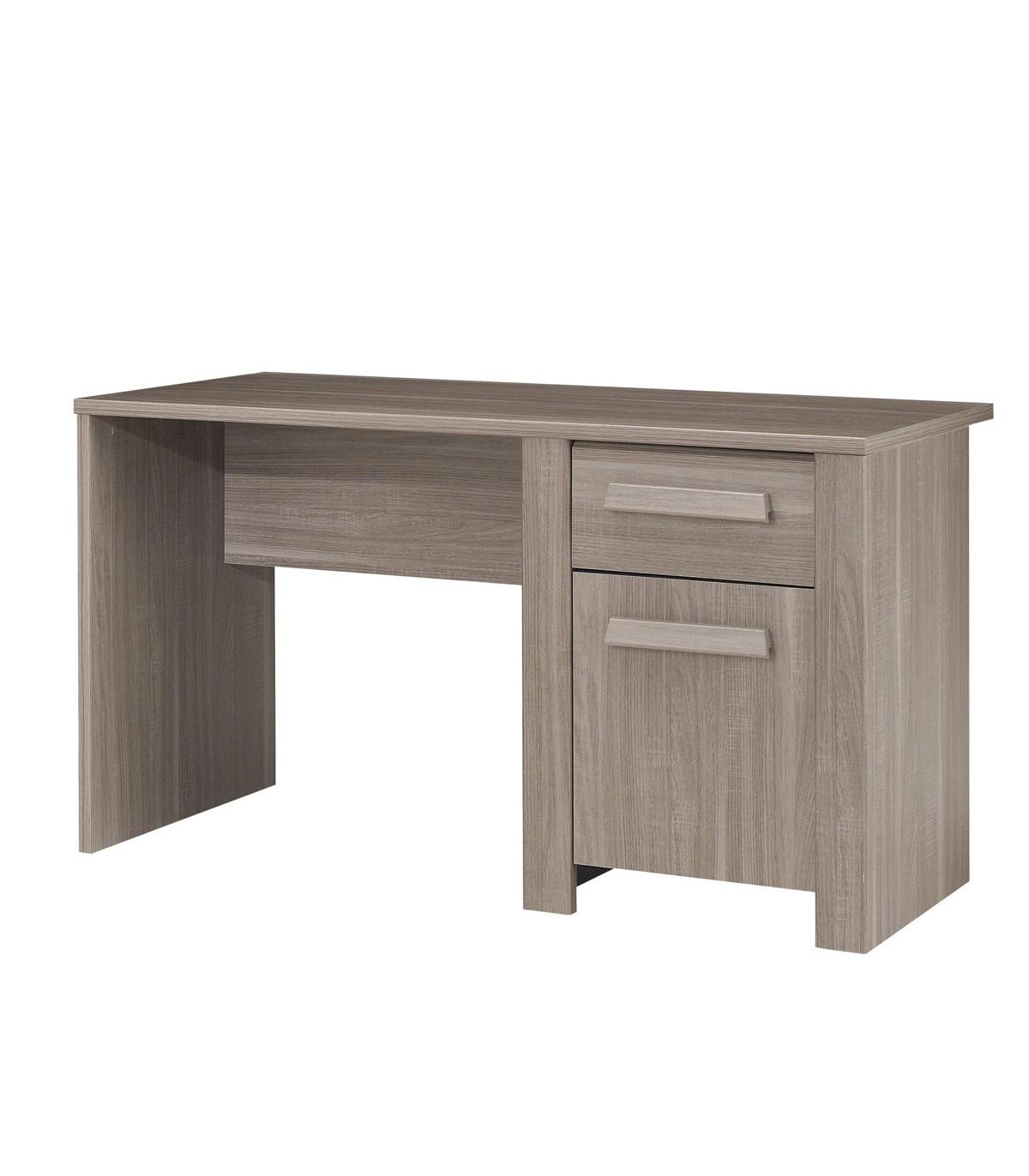 Bureau avec 1 porte et 1 tiroir - Marron