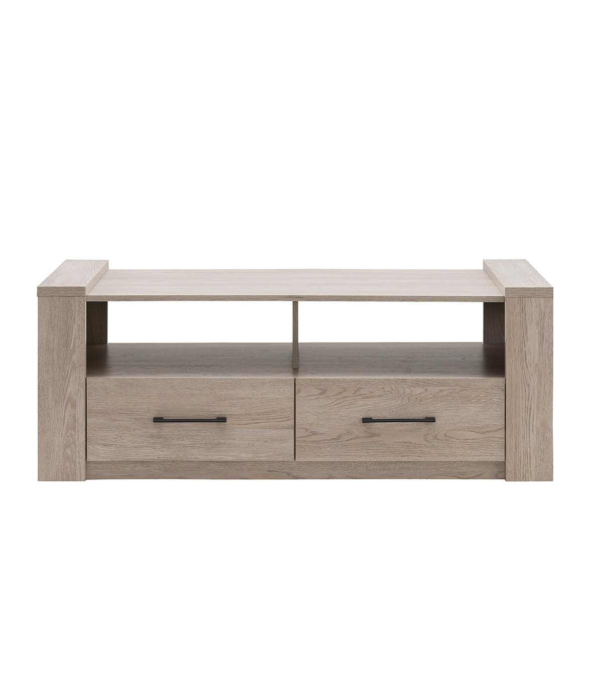 Table basse 2 tiroirs L130cm - Marron
