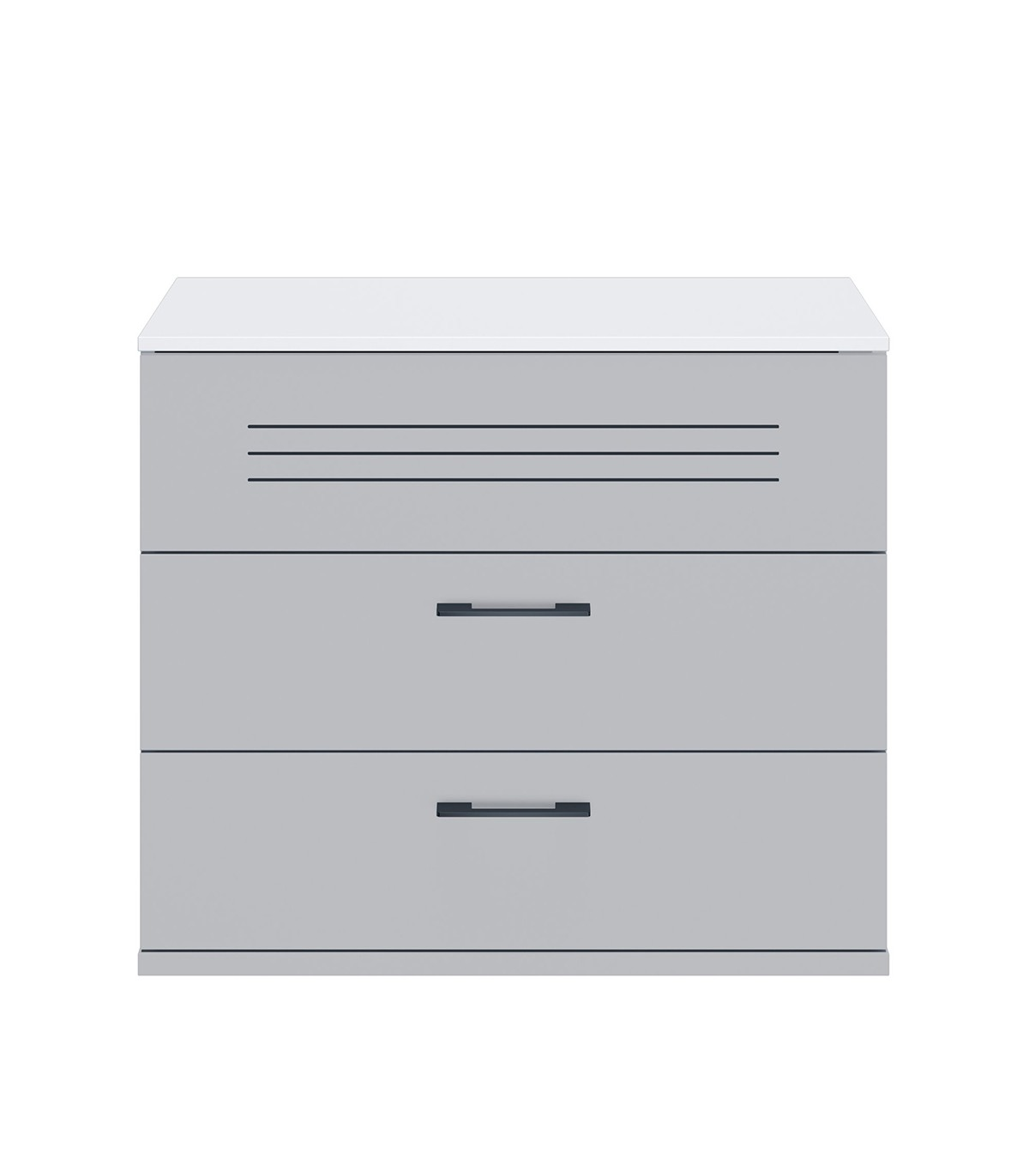 Commode 3 tiroirs blanche Enfant - 85 x H73 cm
