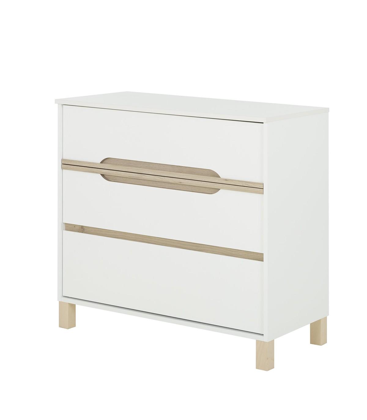 Commode 3 tiroirs blanche Enfant - 95 x H87 cm
